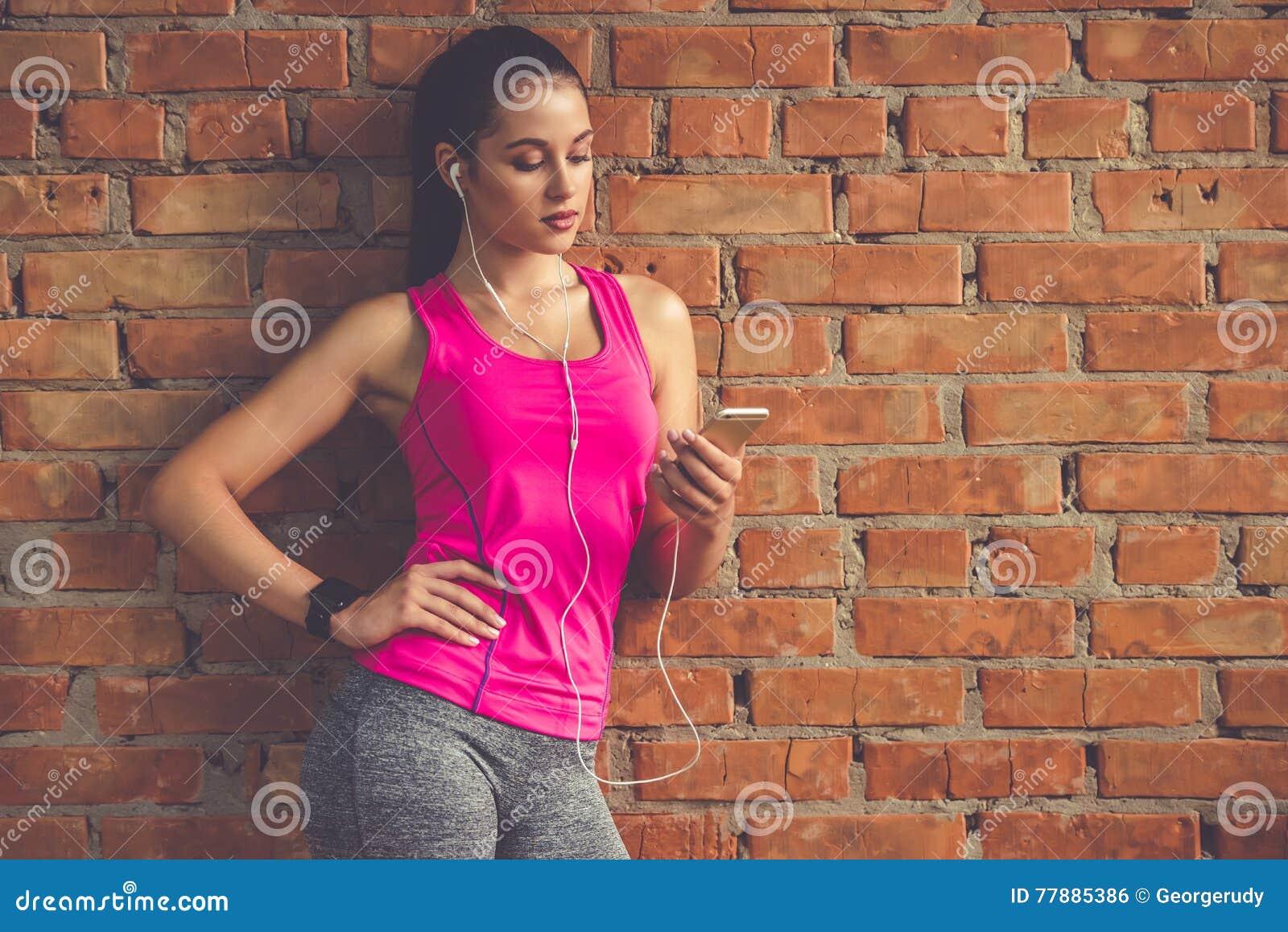 Mujer Atractiva De Los Deportes Foto de archivo