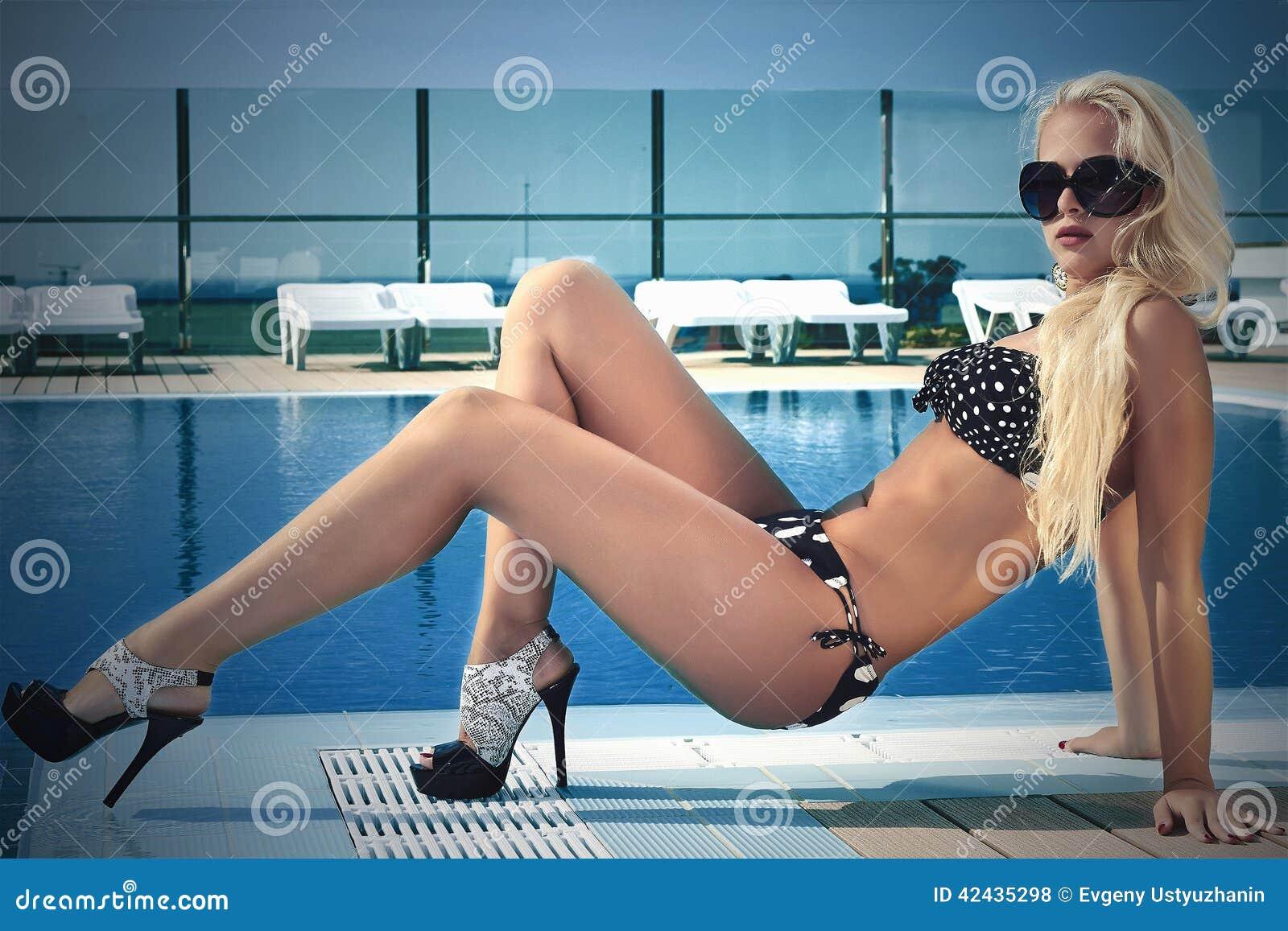 Altos Hermosa Atractiva En Rubia Gafas Mujer Tacones Ju31TlFKc