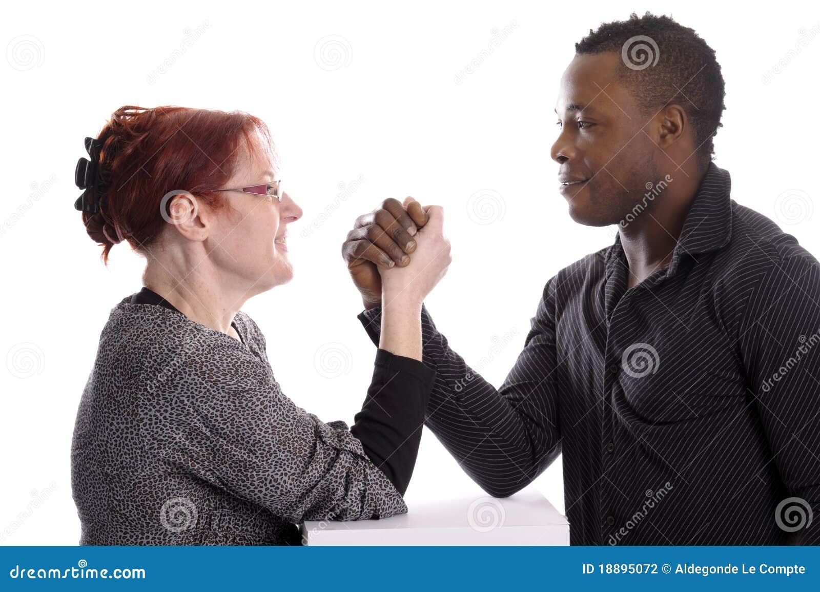 Sexo vídeo de la mujer blanca y un hombre negro -