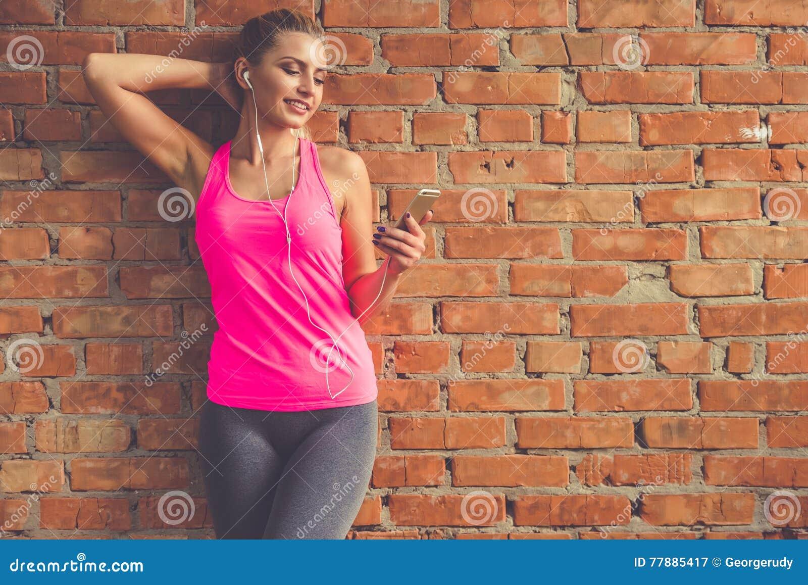 Mujer Bonita De Los Deportes Foto de archivo