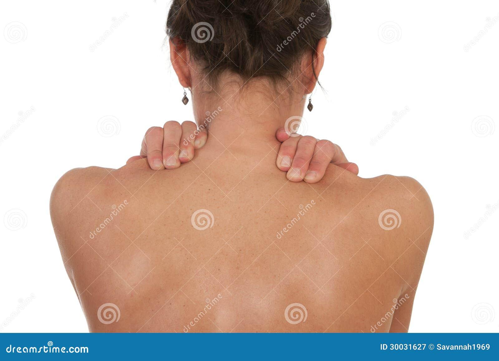 Cuello Y Dolor Muscular Del Hombro Imagen de archivo - Imagen de ...