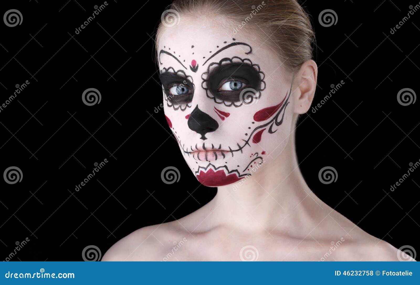maquillaje dia de los muertos mujer