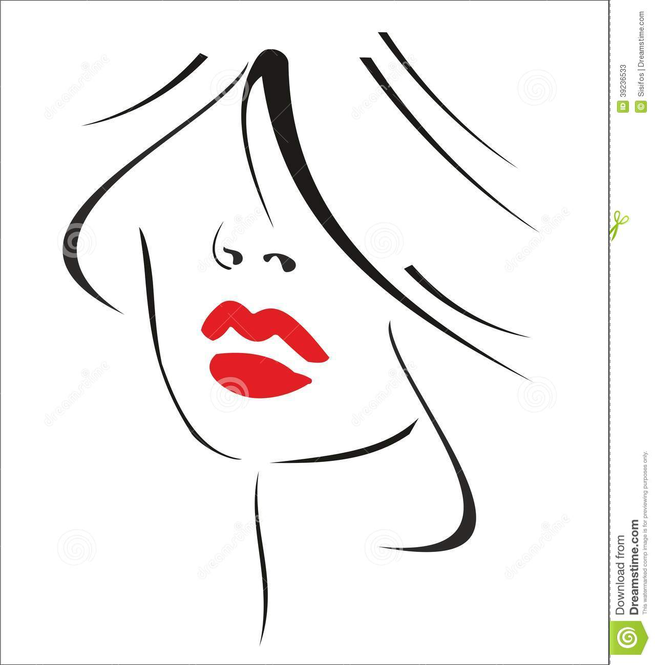 Music Tape Clipart likewise Fotos De Archivo Mujer Con El Pelo Negro Y Los Labios Rojos Image39236533 moreover Cute Cursive Font For Tattoo besides Outlines Of Elegant Girl With Ponytail Back View 54418 Vector Clipart also  on haircut
