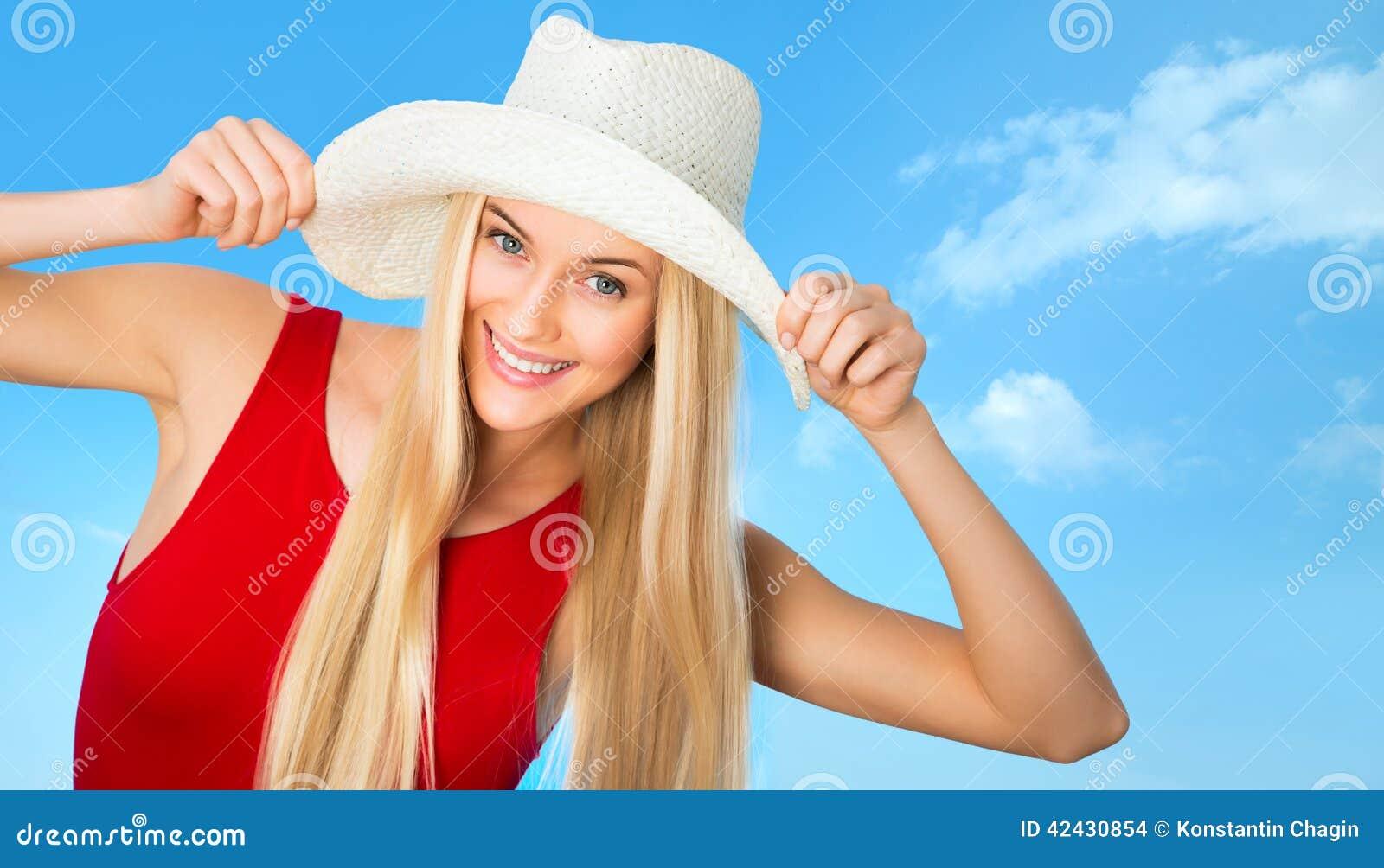 Mujer con el sombrero