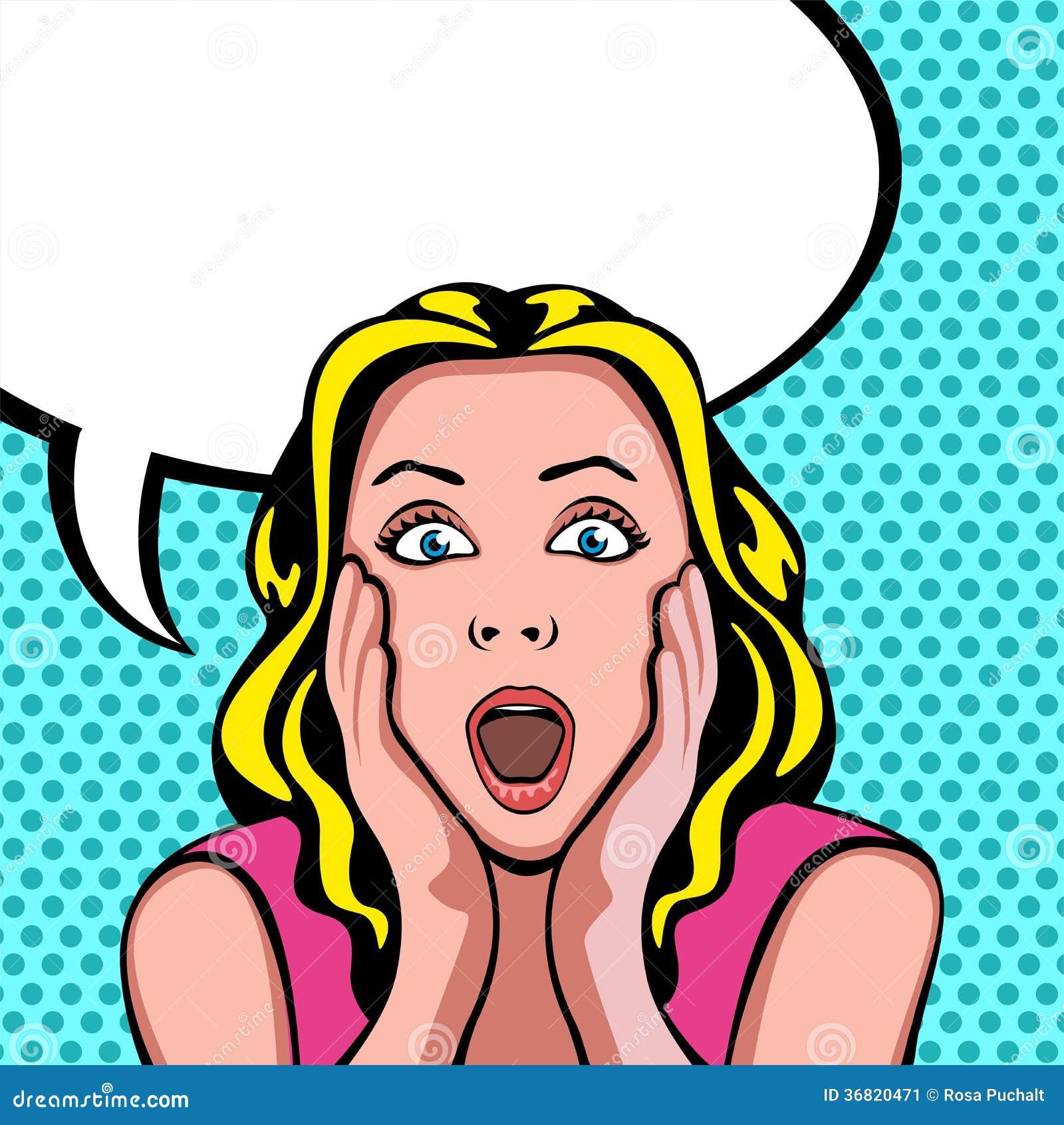 Mujer con la expresión sorprendida