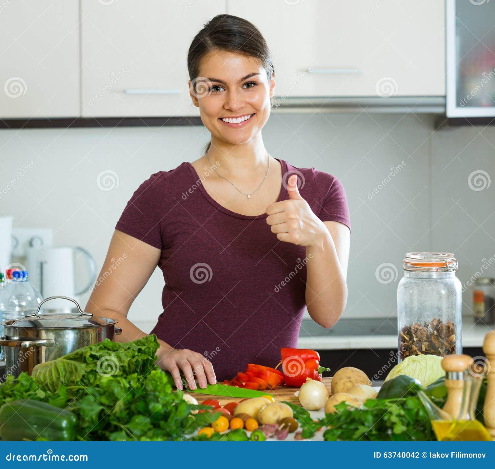 image J20yo esposa joven estilo de la cocina