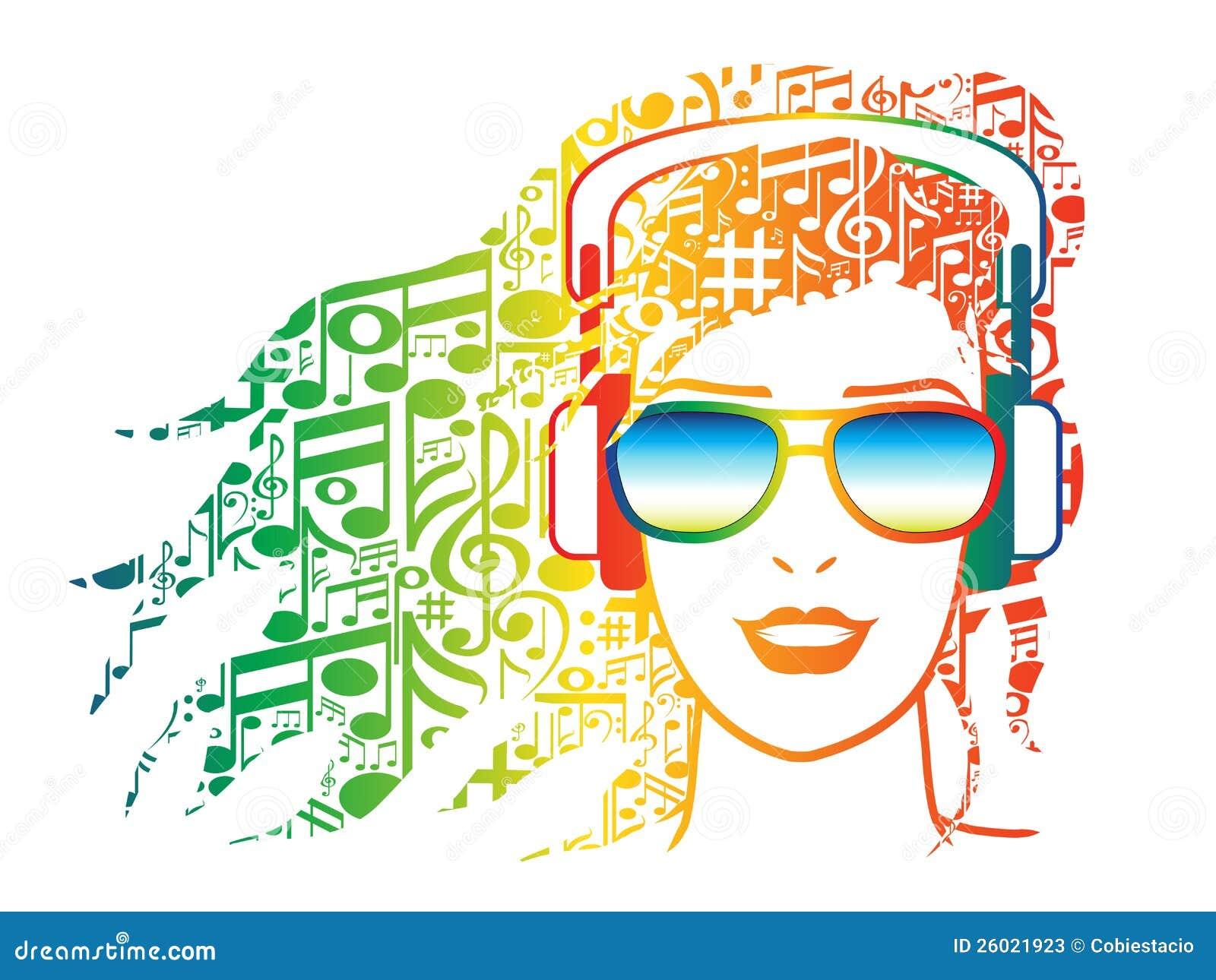 Auriculares Y Las Notas Musicales Ilustraciones Stock Vectores Y