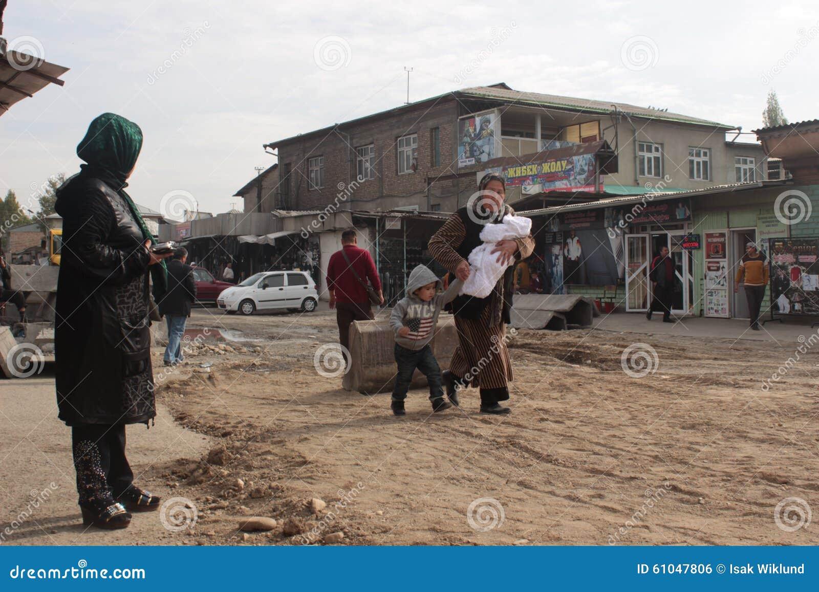 Mujer con los niños
