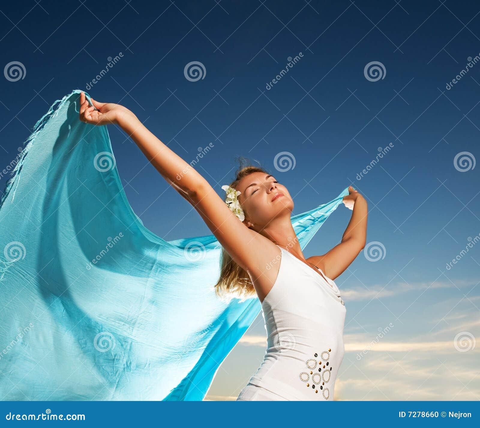 Mujer con un mantón