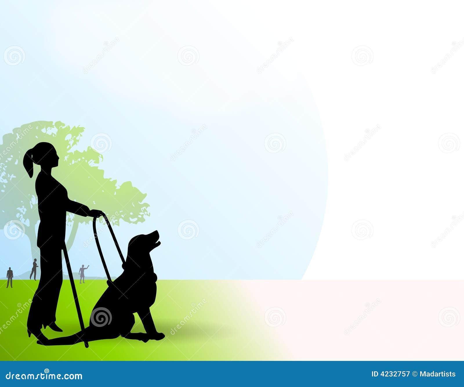 Mujer con ver el perro del ojo