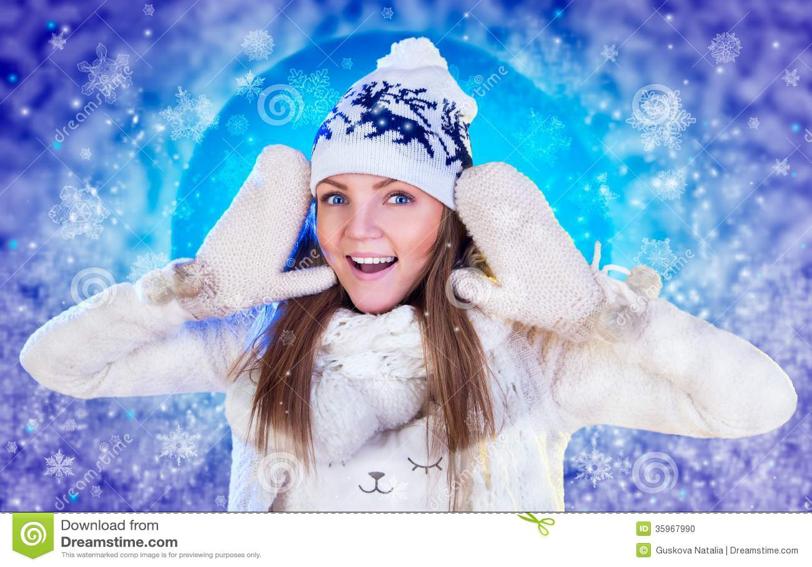 Mujer de la Navidad. Año Nuevo y la Navidad hermosos