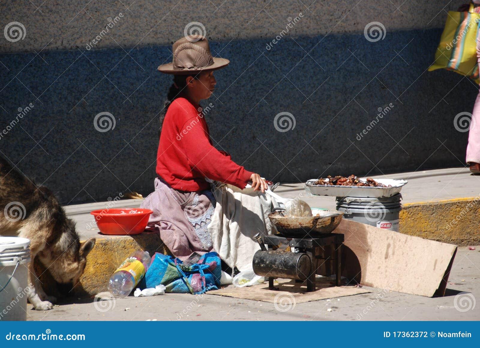 Mujer de los Peruvian de la indigencia