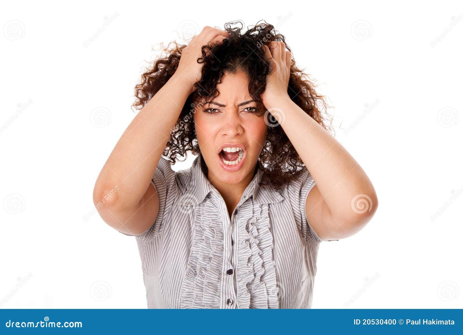 Mujer de negocios frustrada