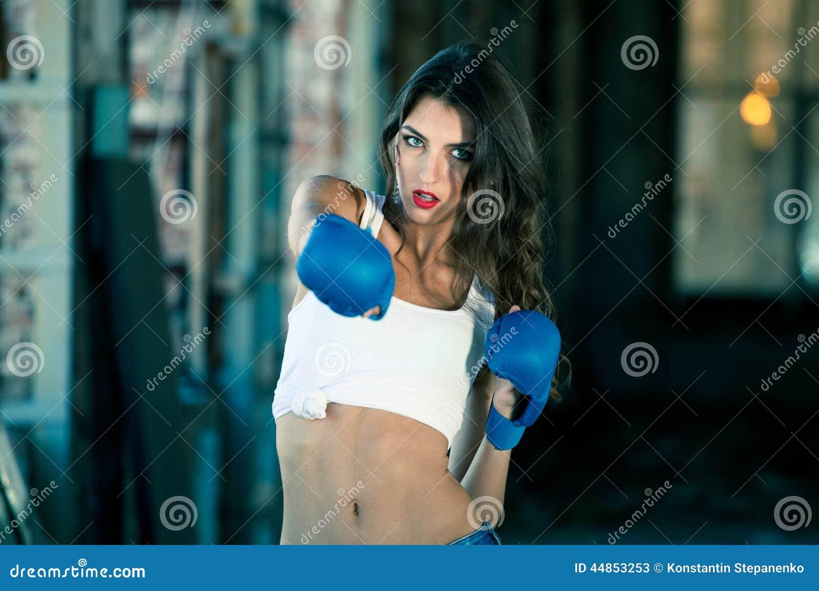 Mujer del boxeo