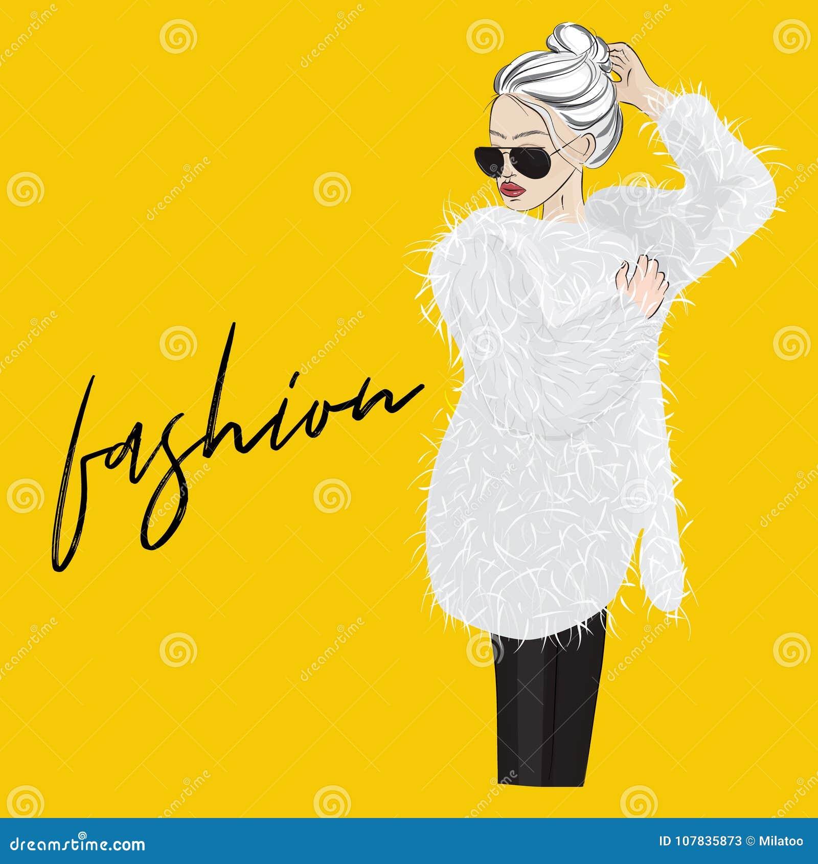 Encanto De Pieles Del Mujer En Gafas Vector Las Abrigo Con PpqS5
