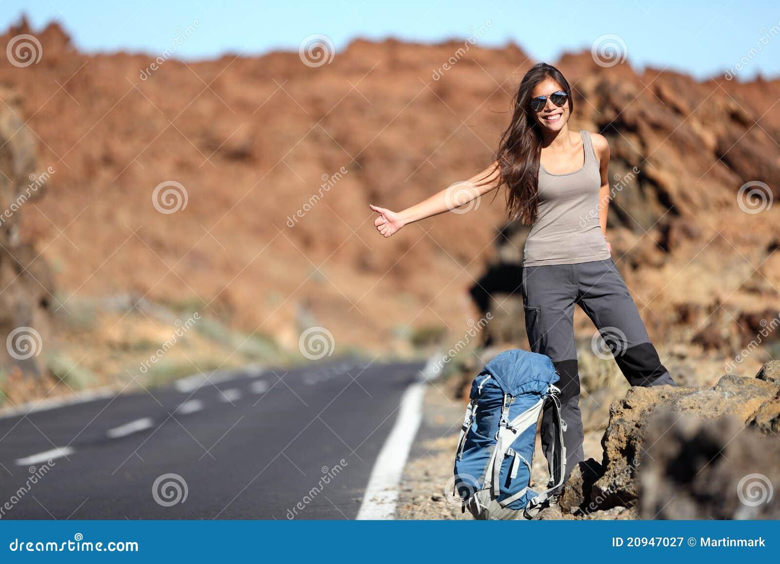 Esposa en topless en viaje por carretera 7