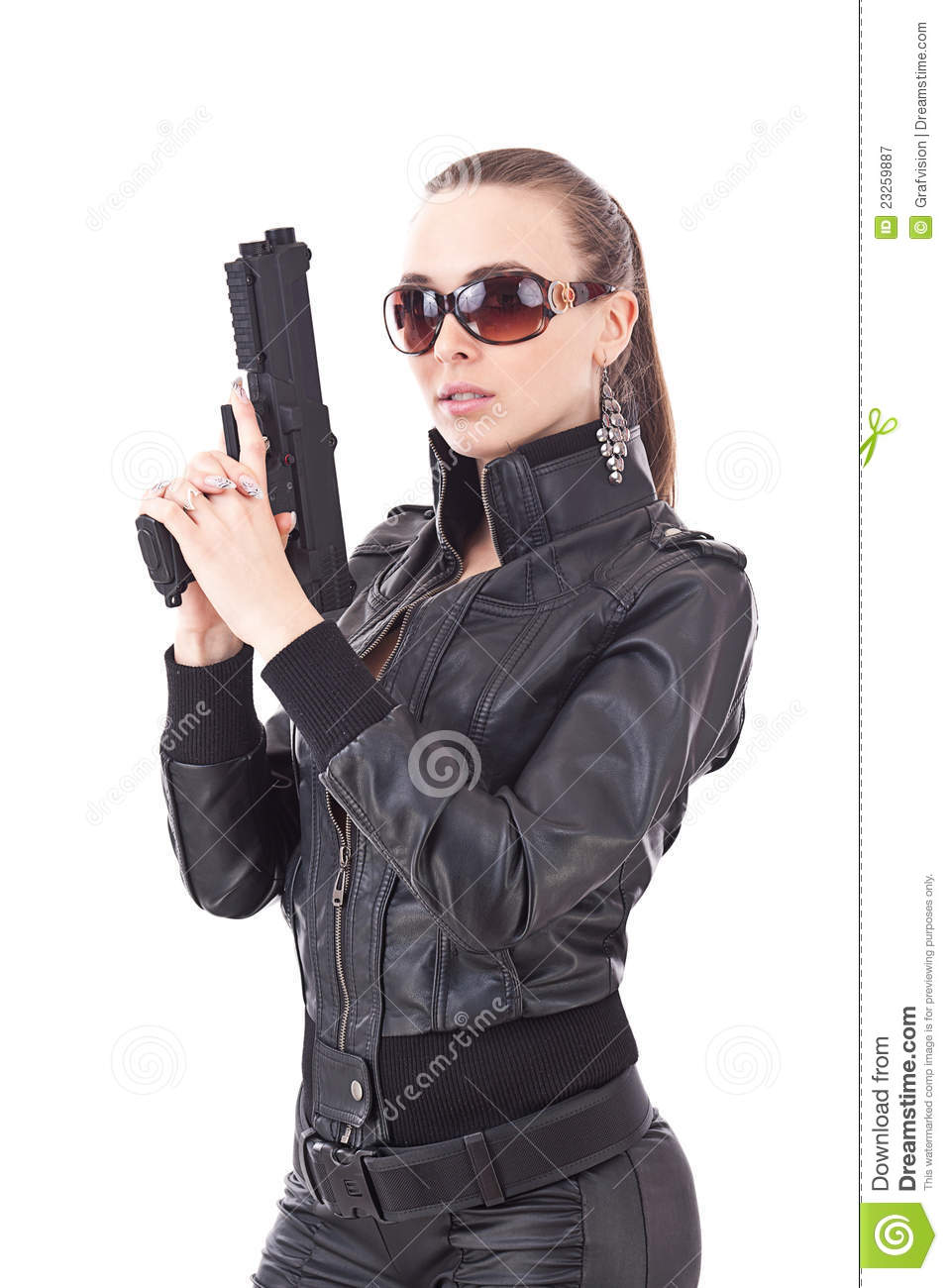 image Sexy police girl raw grips police
