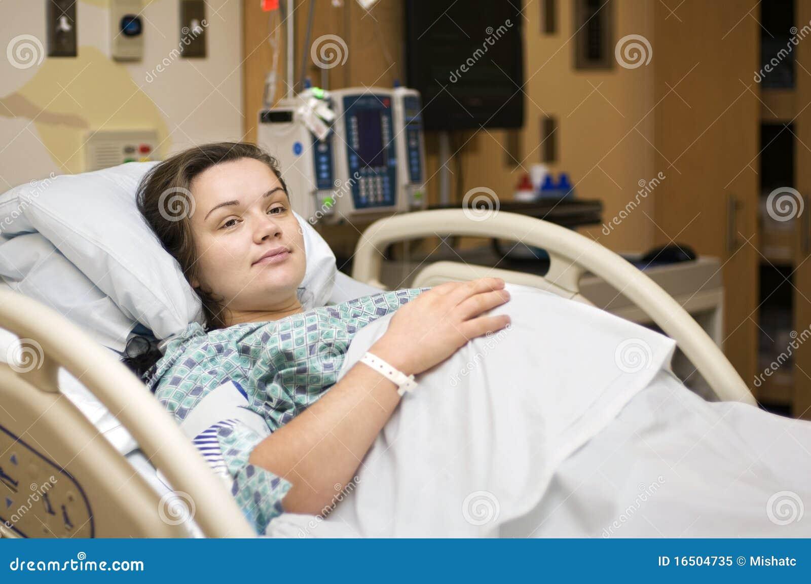 Mujer Embarazada En Hospital Imagen De Archivo Imagen De