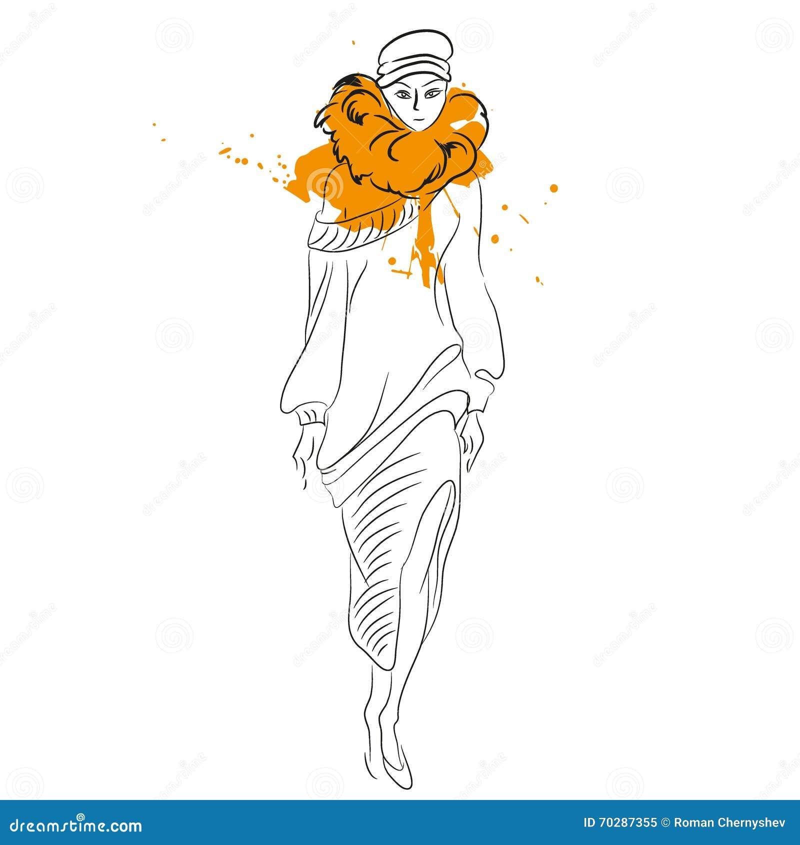 Mujer En La Muchacha Invierno De Pieles Del Abrigo Linda Moda 11prqnTw