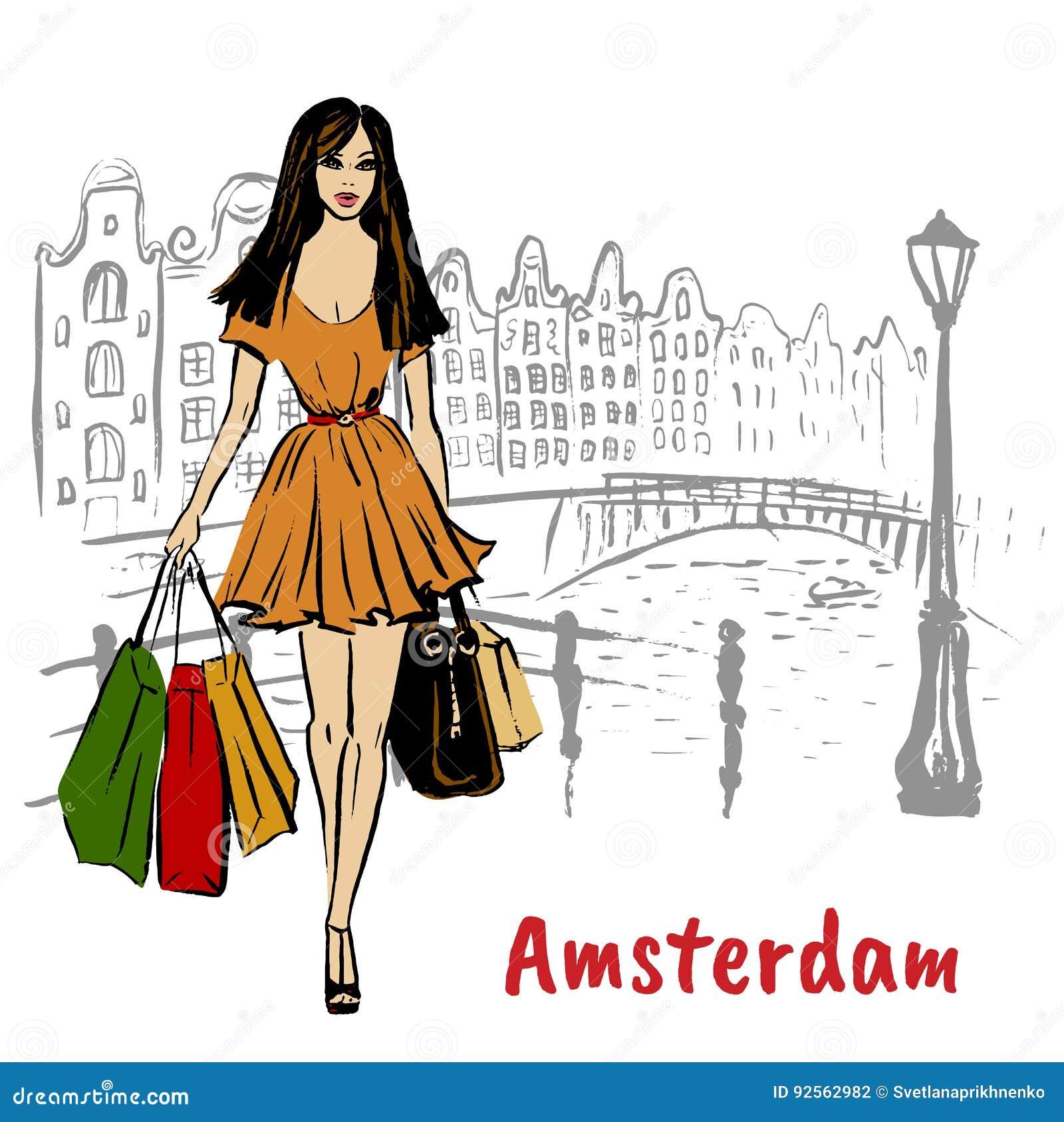 Mujer en Amsterdam