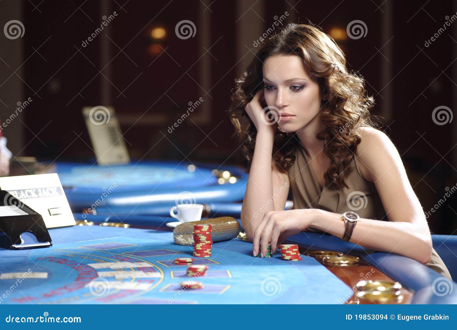 Mujer en casino
