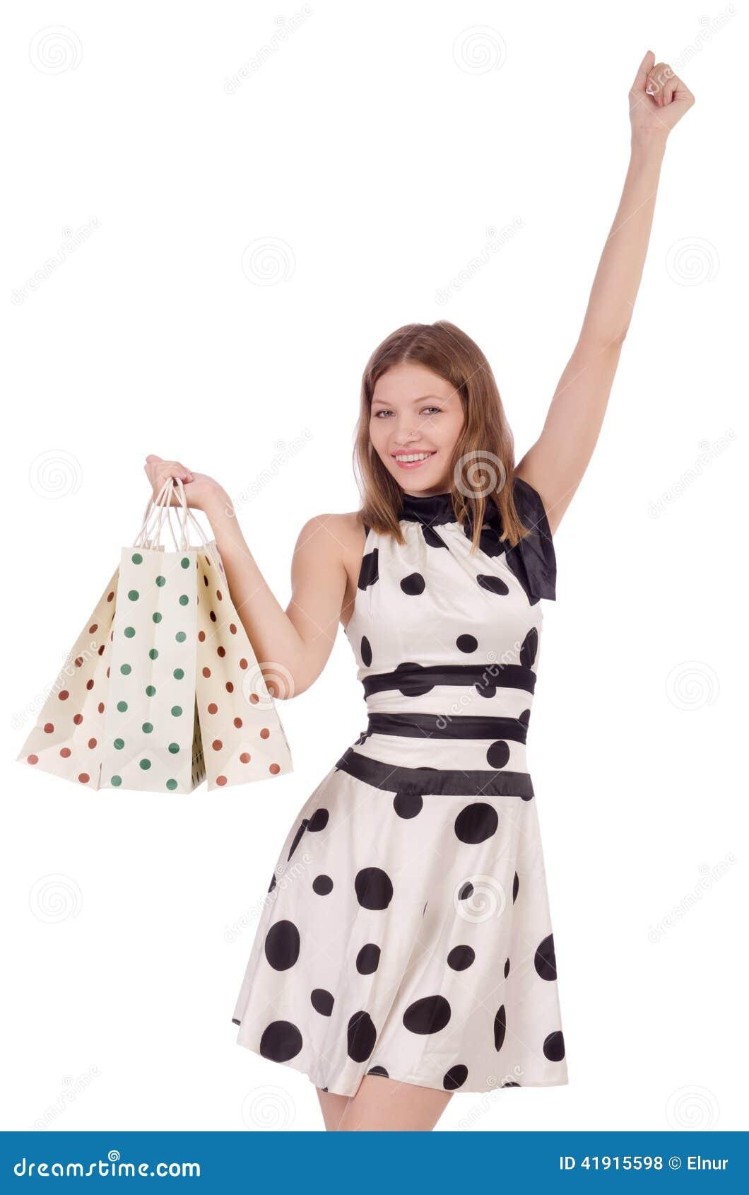 Mujer en compras