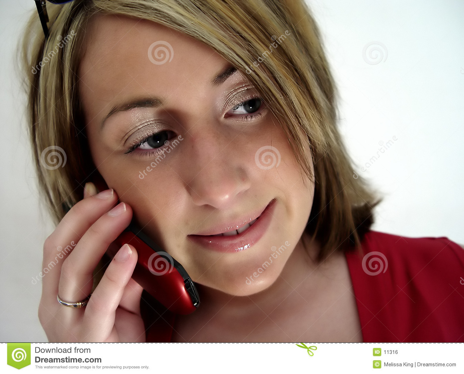 Mujer en el teléfono celular