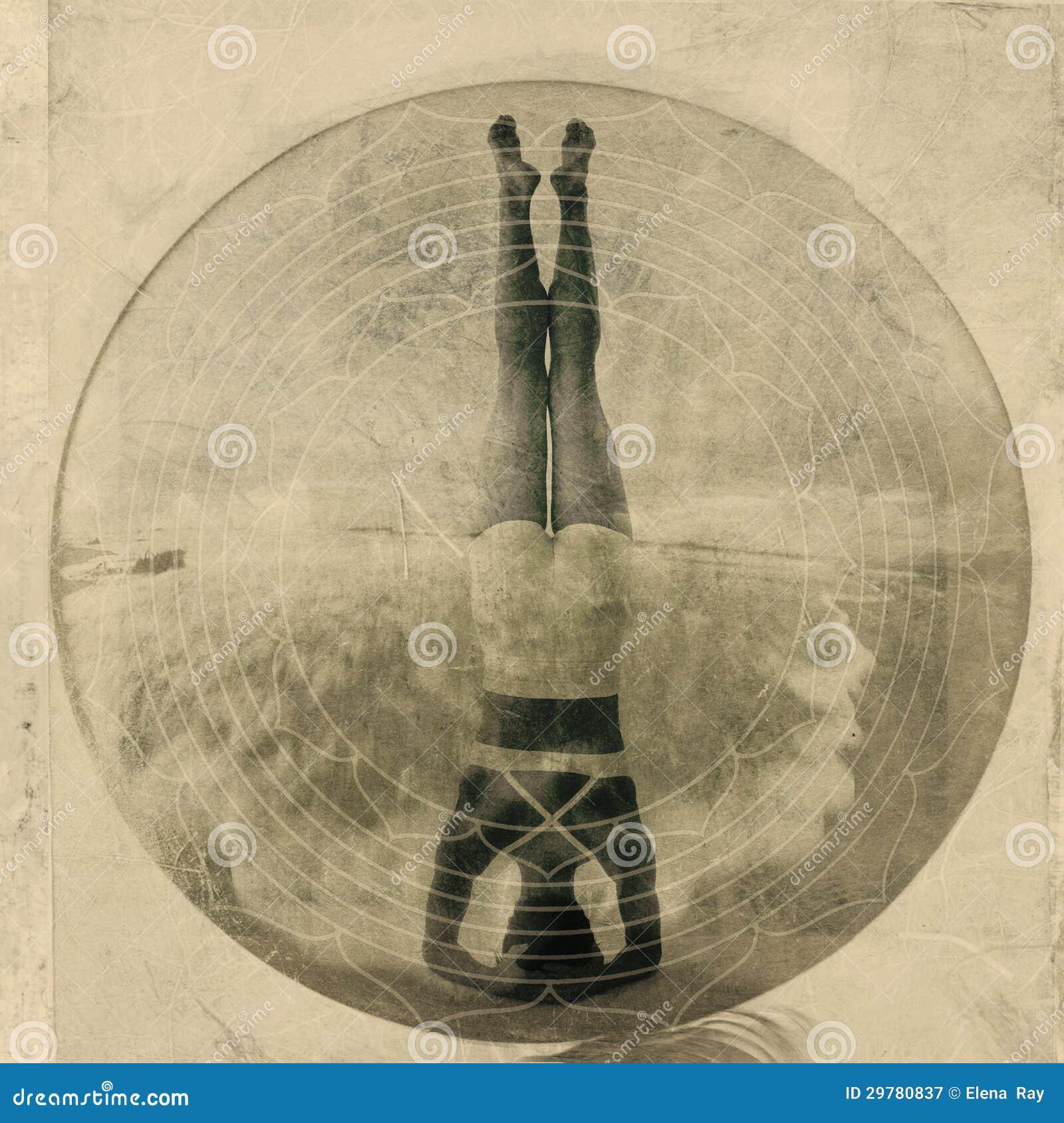 Headstand de la yoga