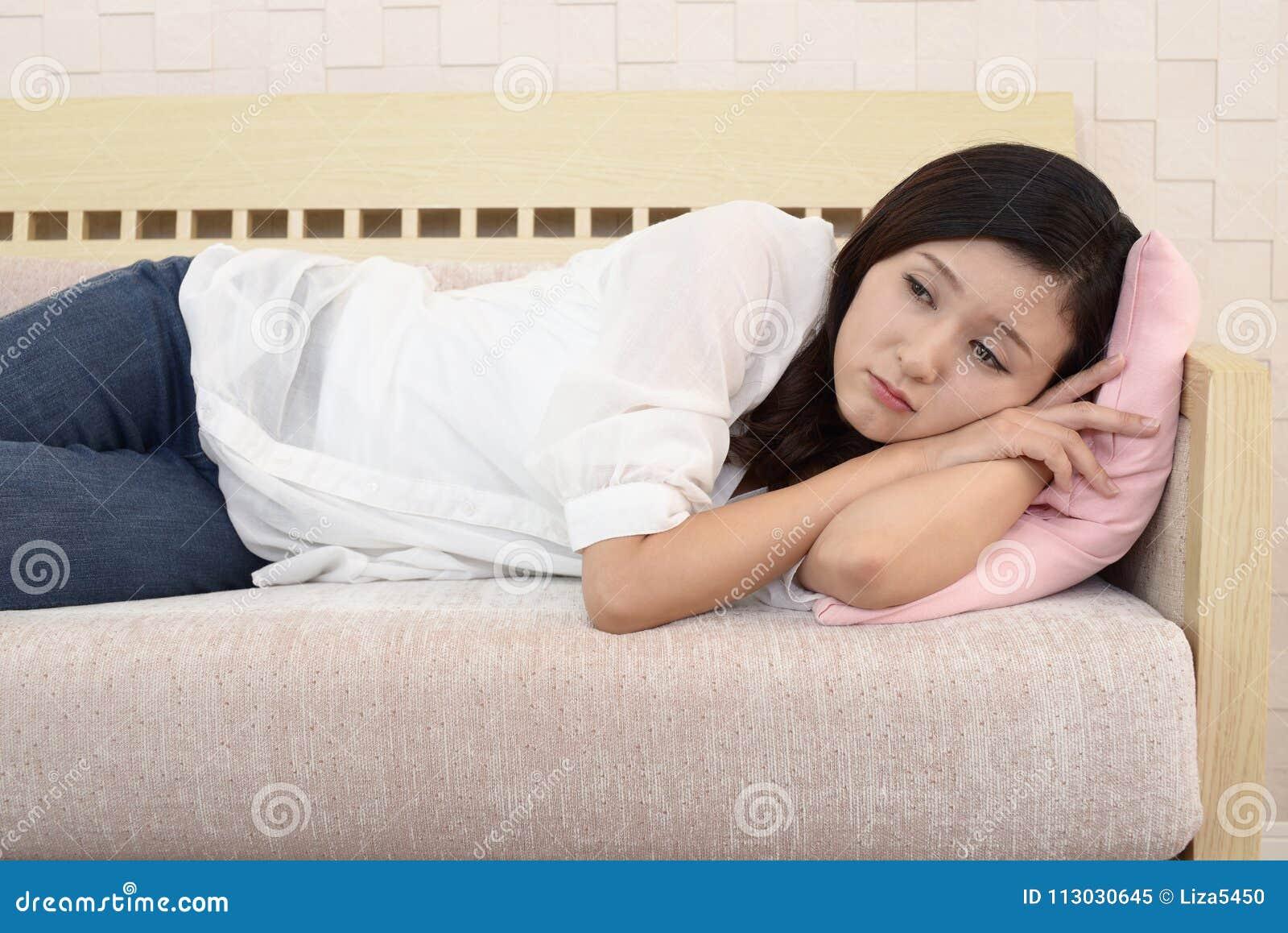 Mujer en la depresión