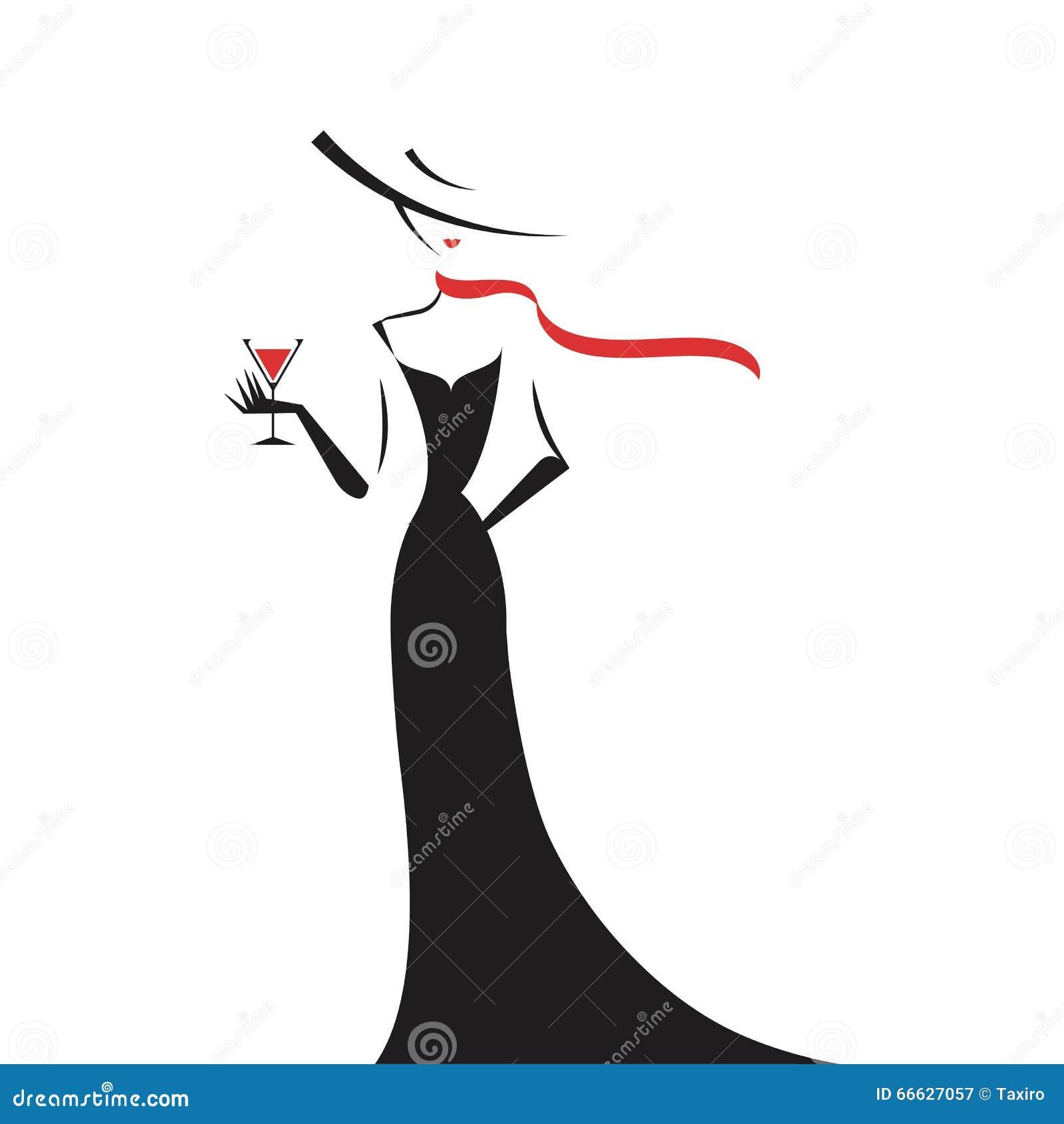 Silueta de mujer con vestido