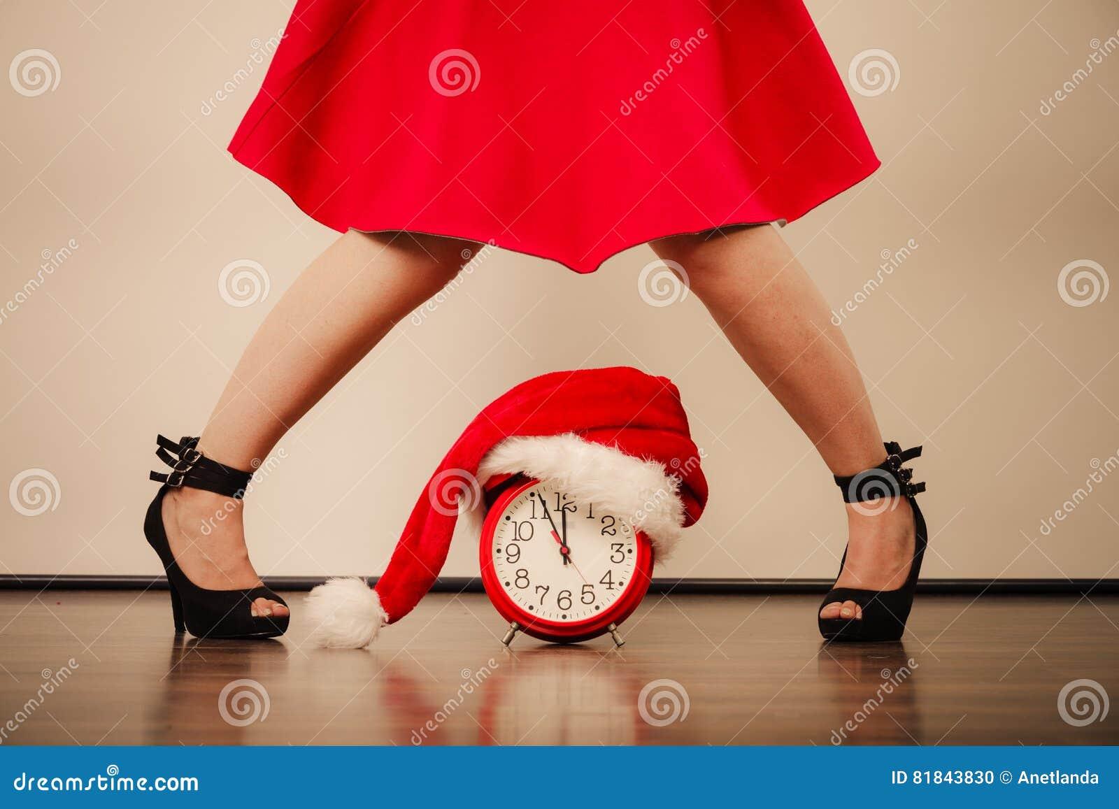 Archivo Tacones Altos Despertador El En Navidad Mujer Con Foto De f6gybY7v