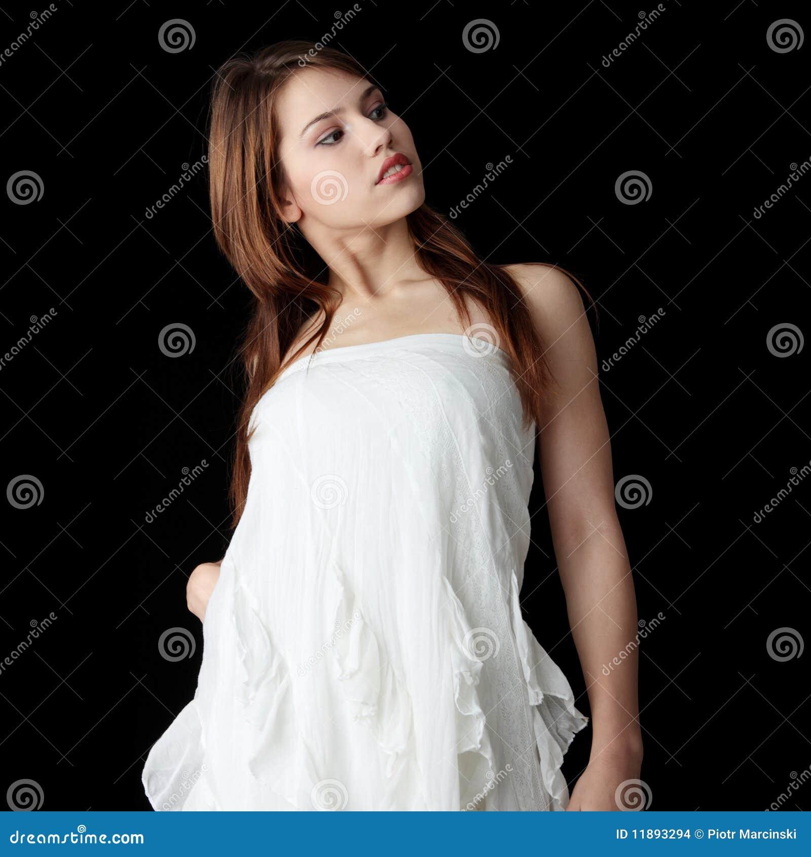 Vestidos de noche blanco elegantes