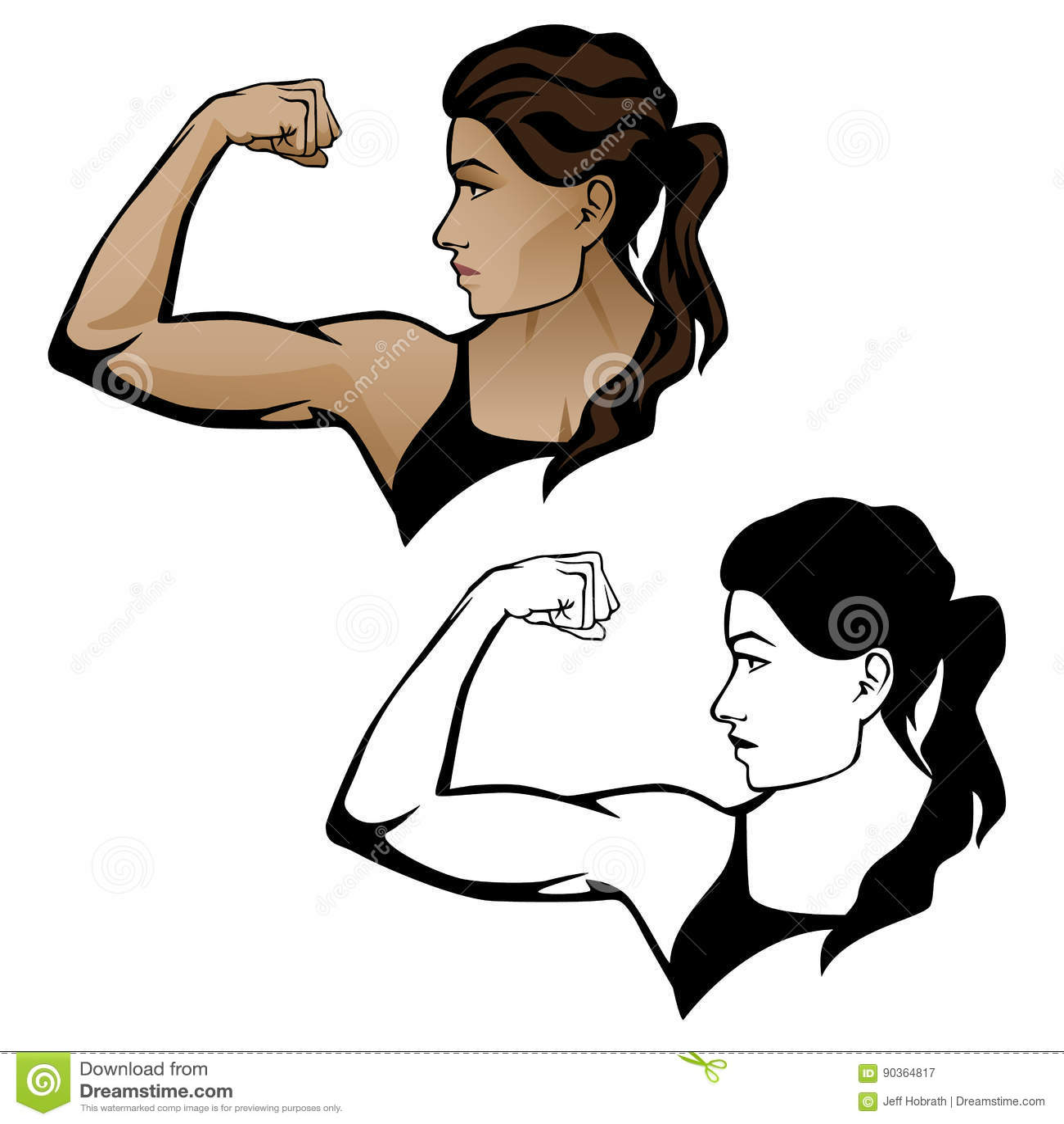Mujer femenina de la aptitud que dobla el ejemplo del brazo