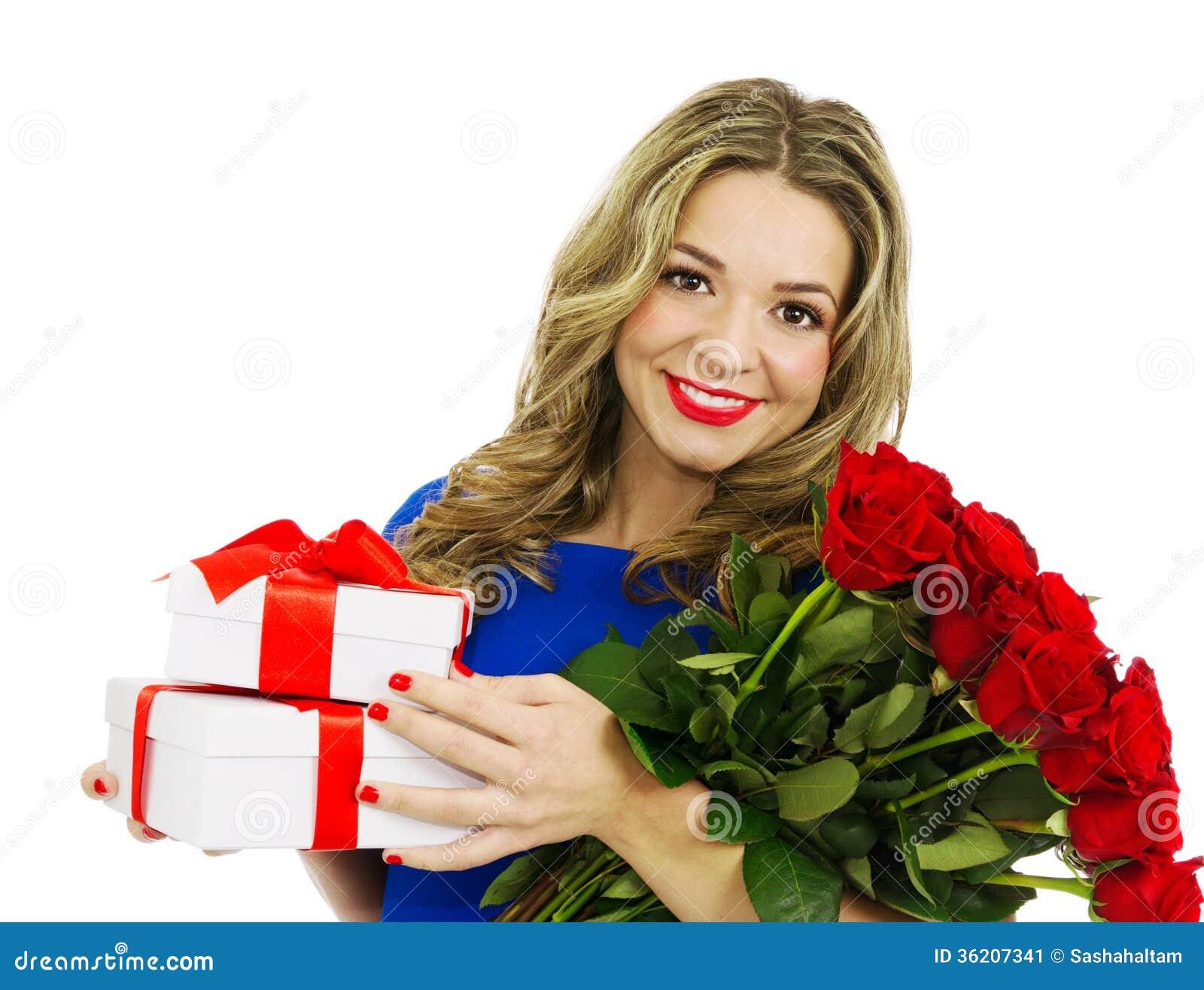 mujer y rosa roja - photo #12