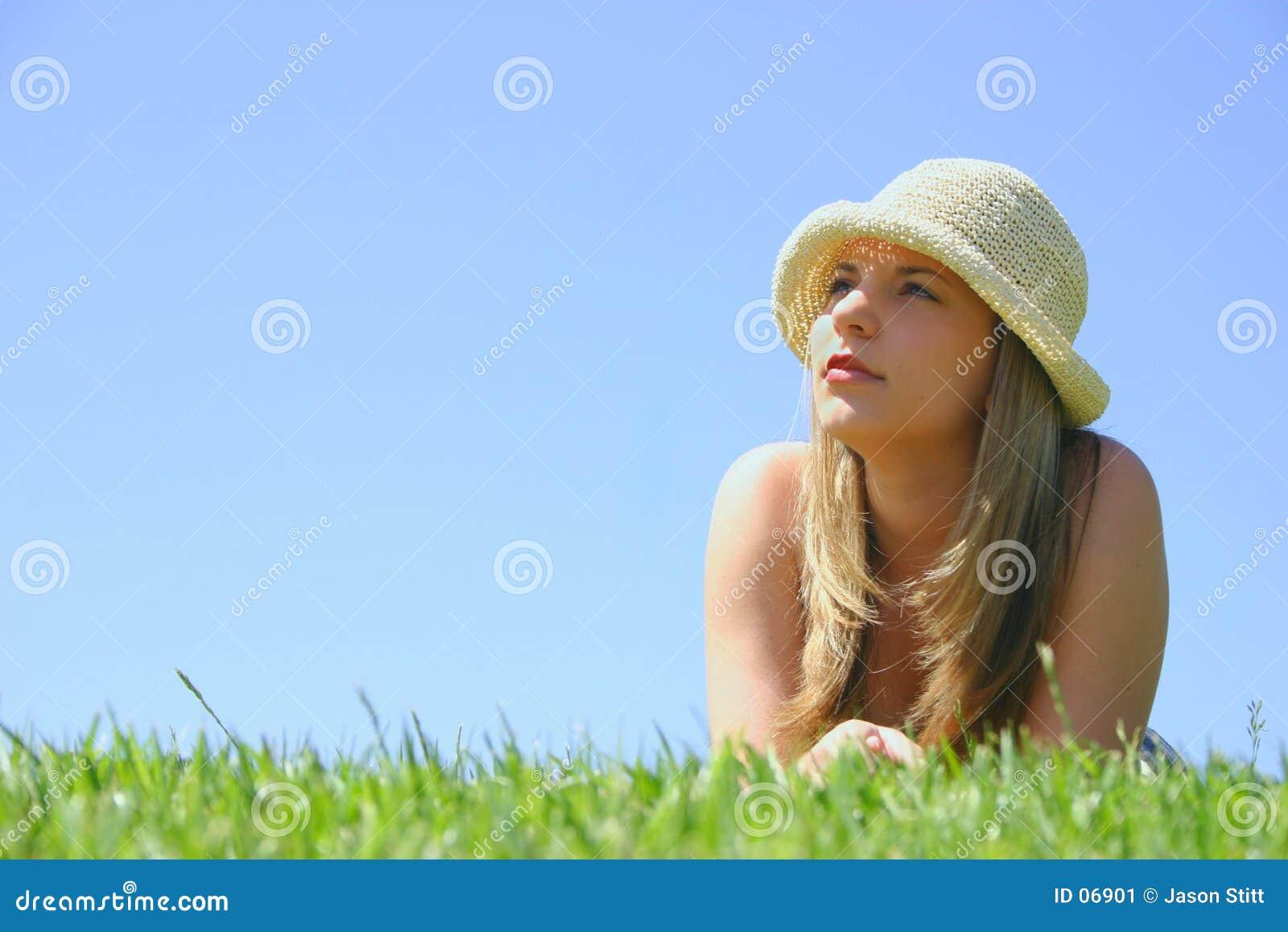 Mujer hermosa del sombrero