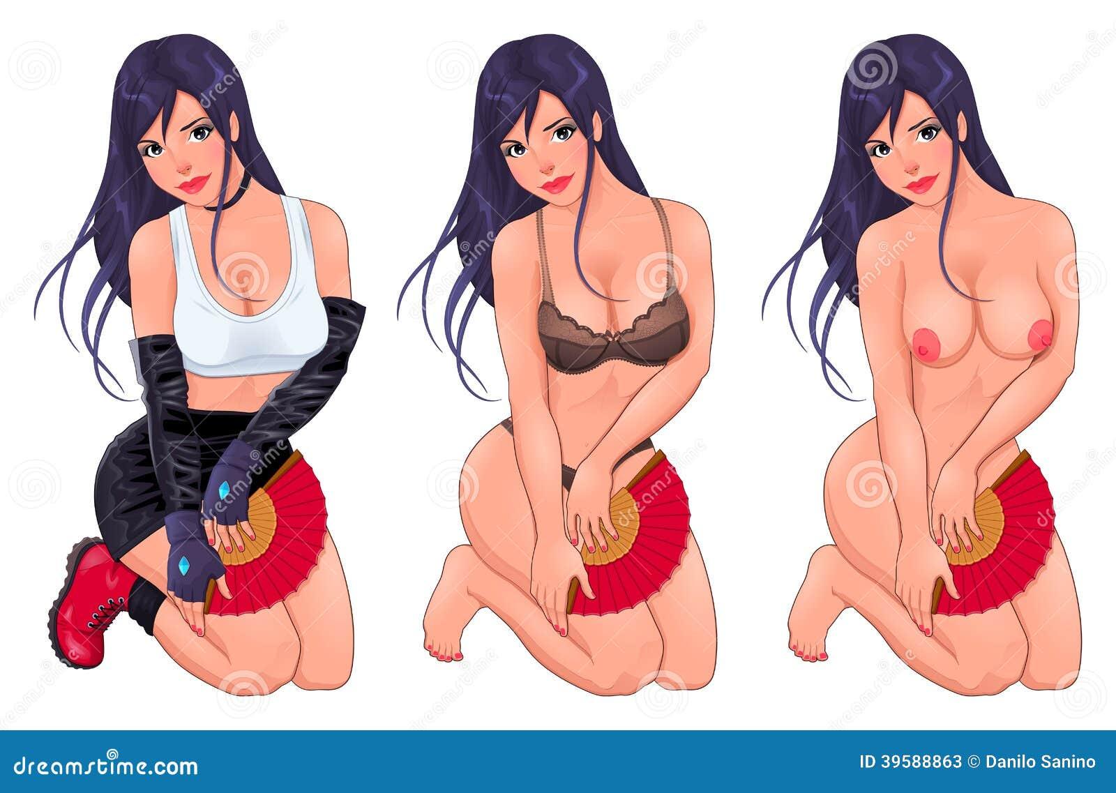 Mujeres vestidas y desvestidas