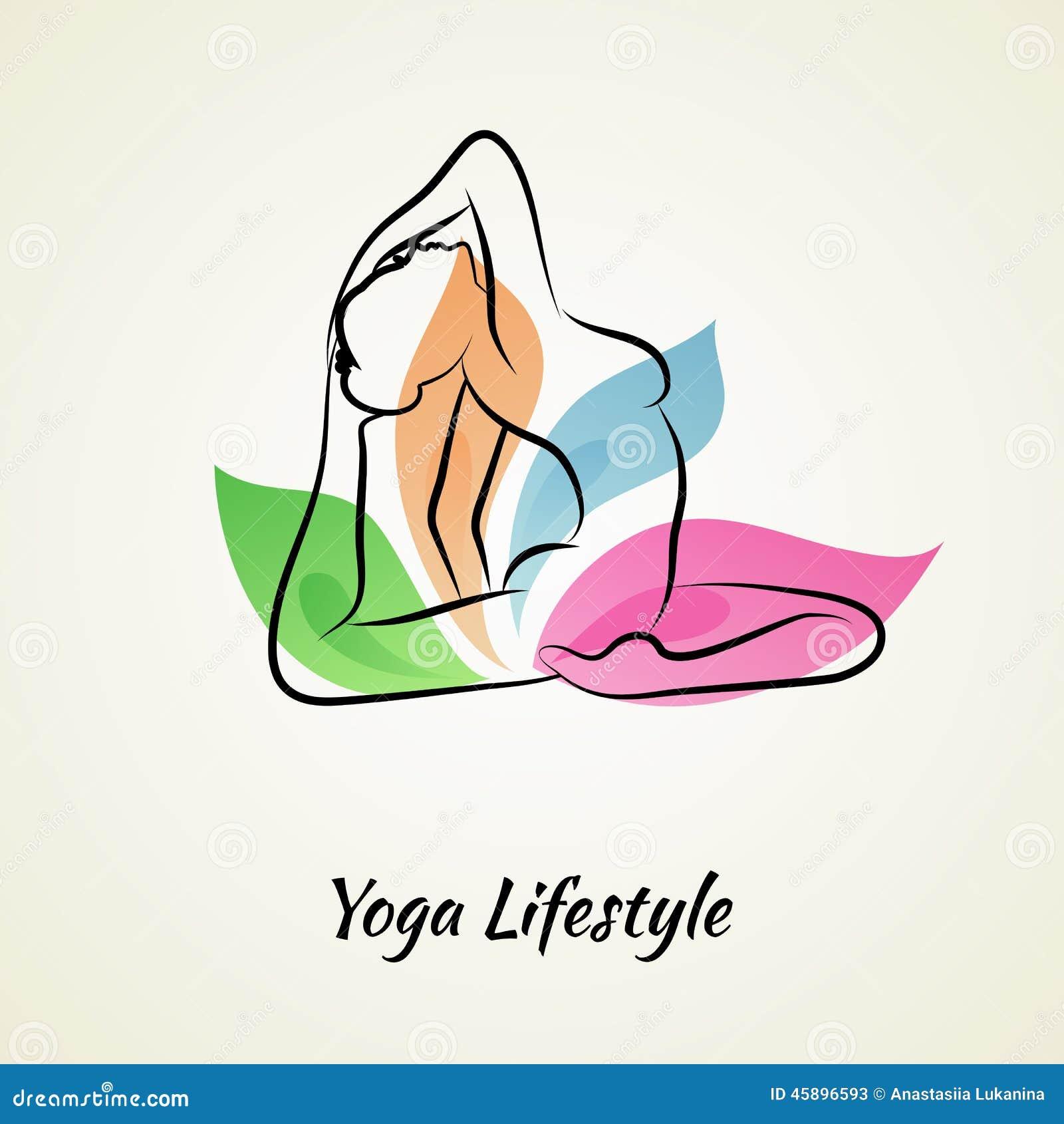 Mujer hermosa que hace yoga