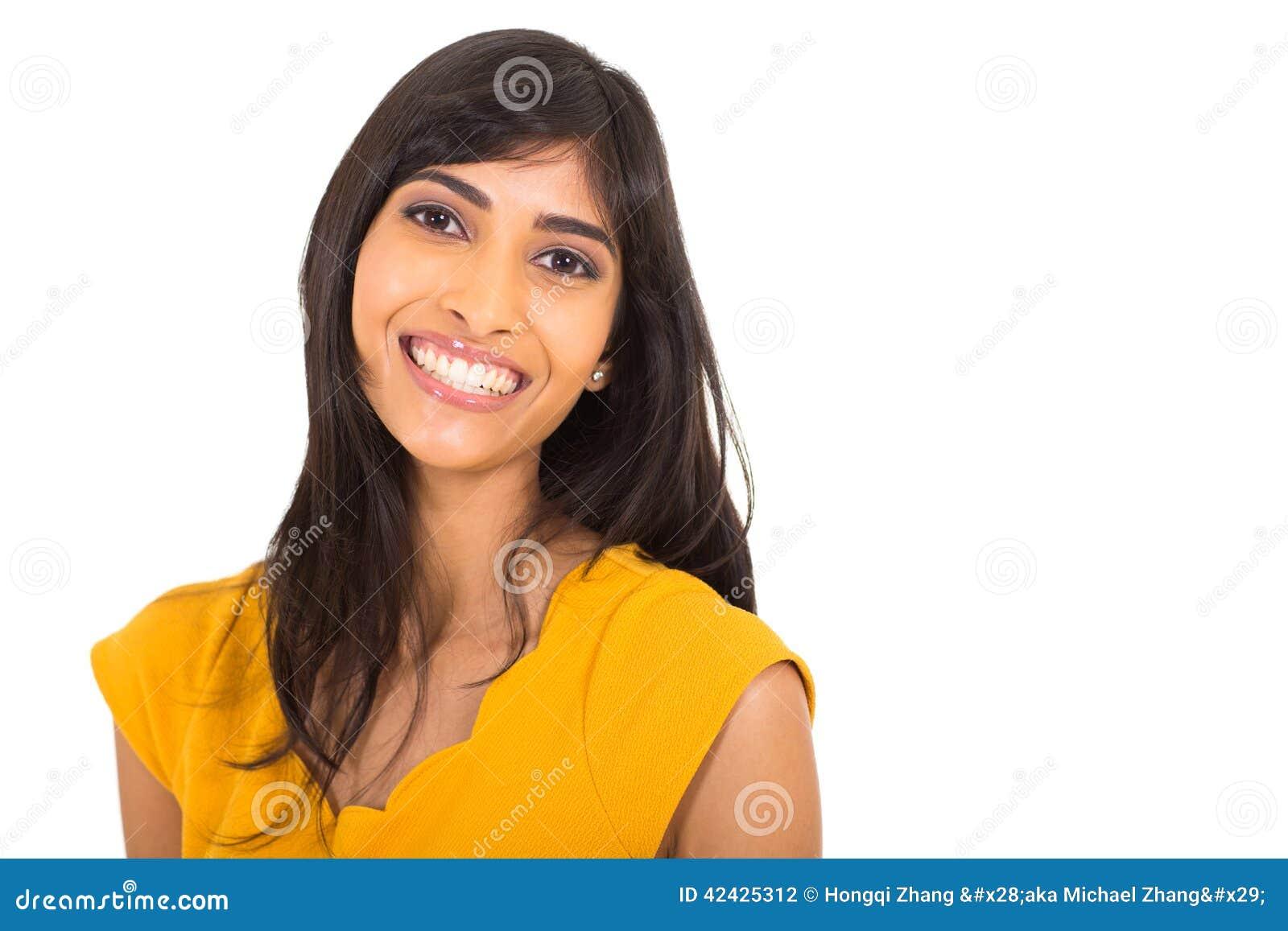 Mujer india alegre