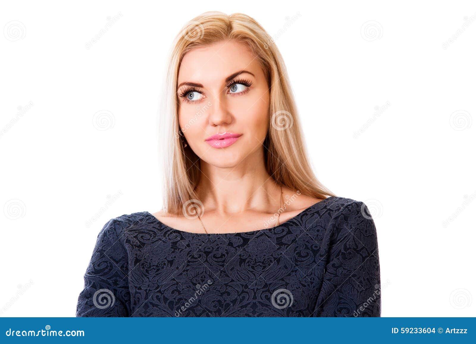 Download Mujer joven de pensamiento foto de archivo. Imagen de decida - 59233604