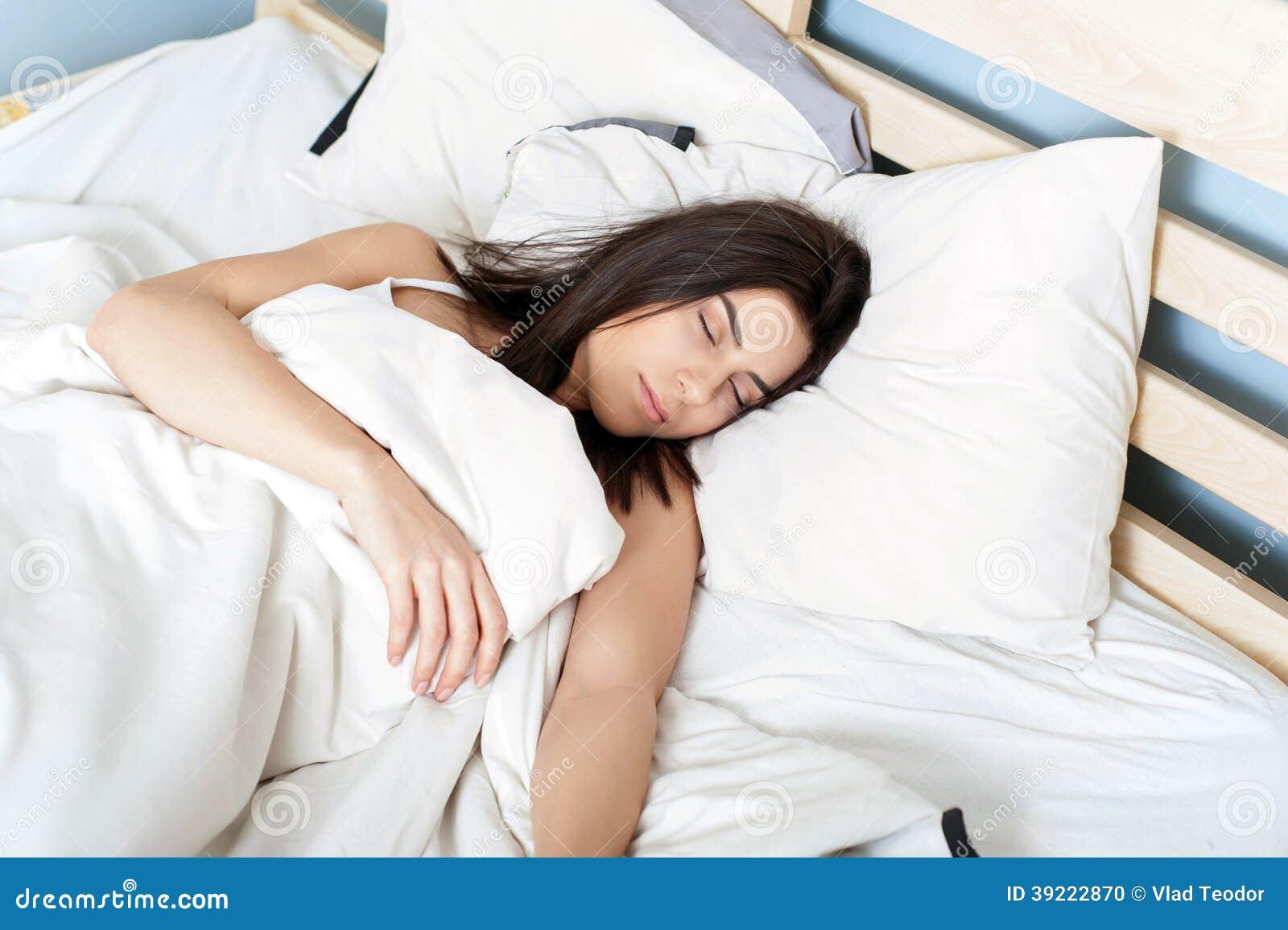 dormido mujer