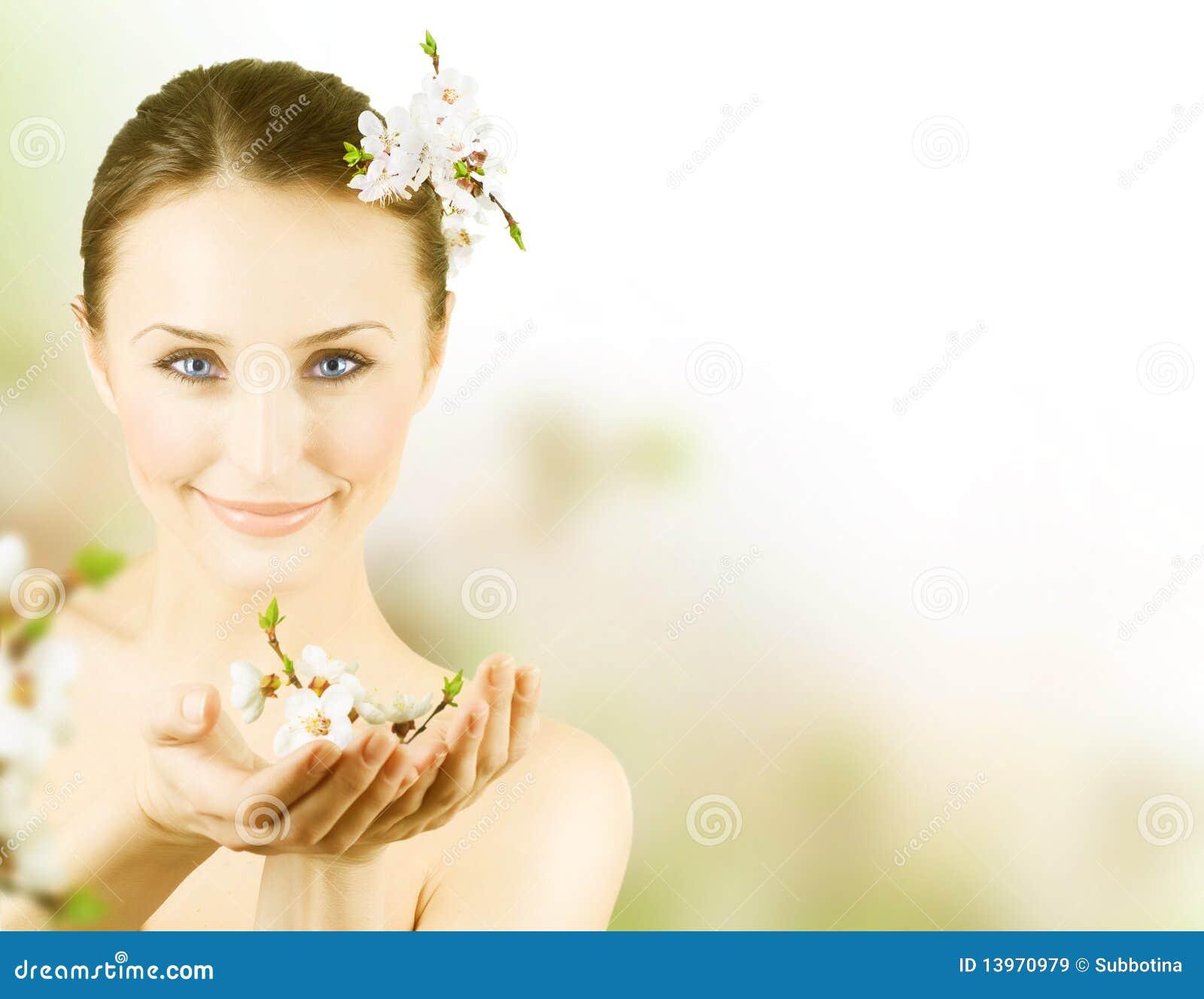 mujer flor: