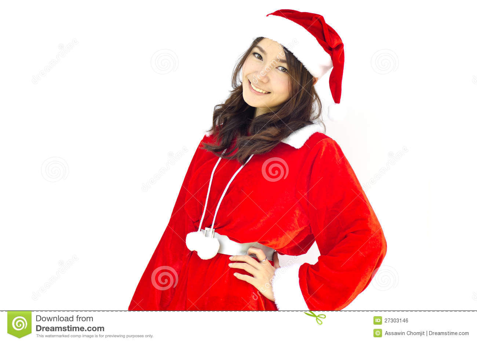 Mujer joven hermosa de Papá Noel,