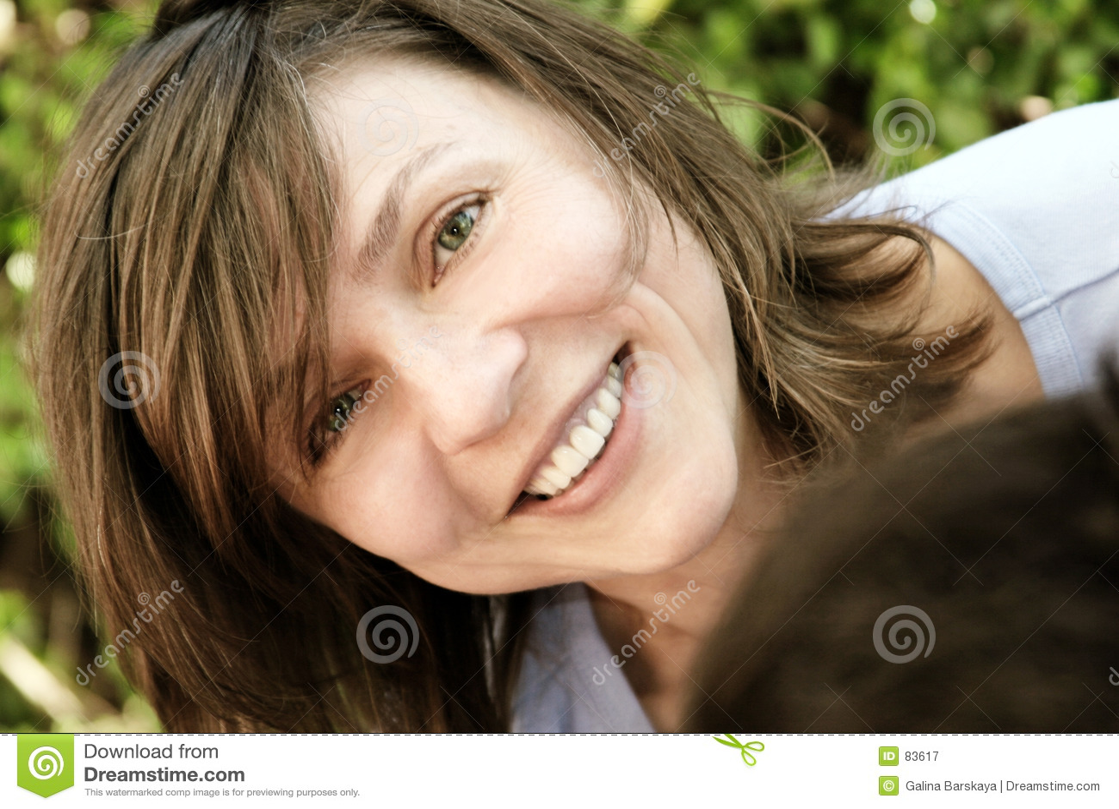 Mujer madura feliz