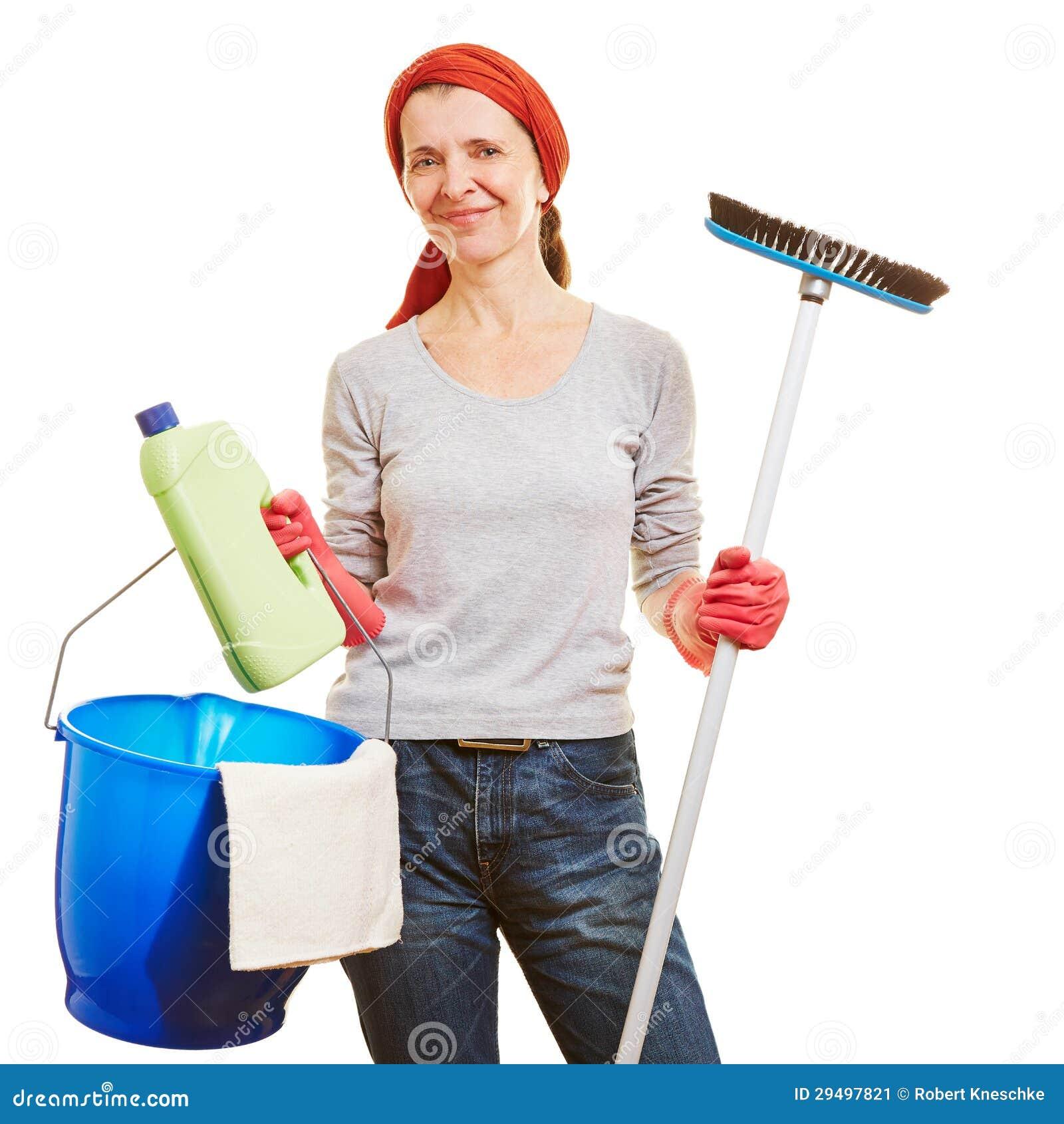 mujer de la limpieza