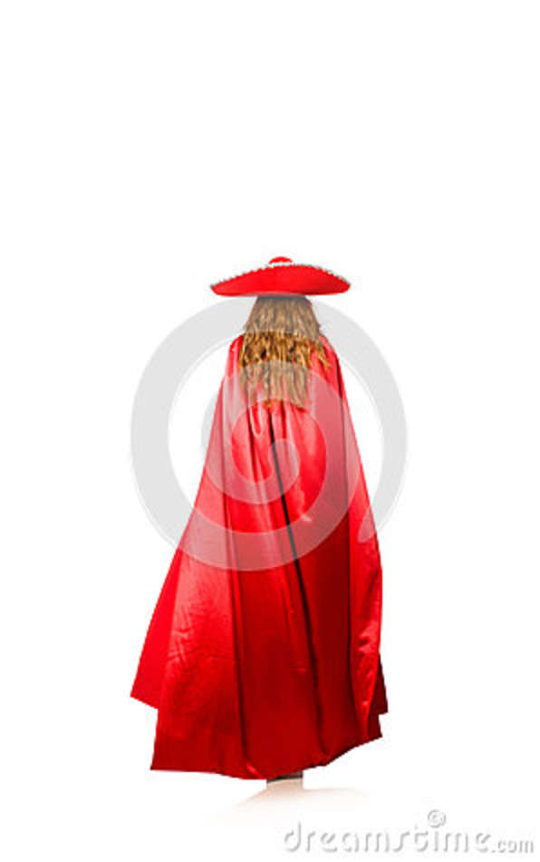 Mujer mexicana en ropa roja