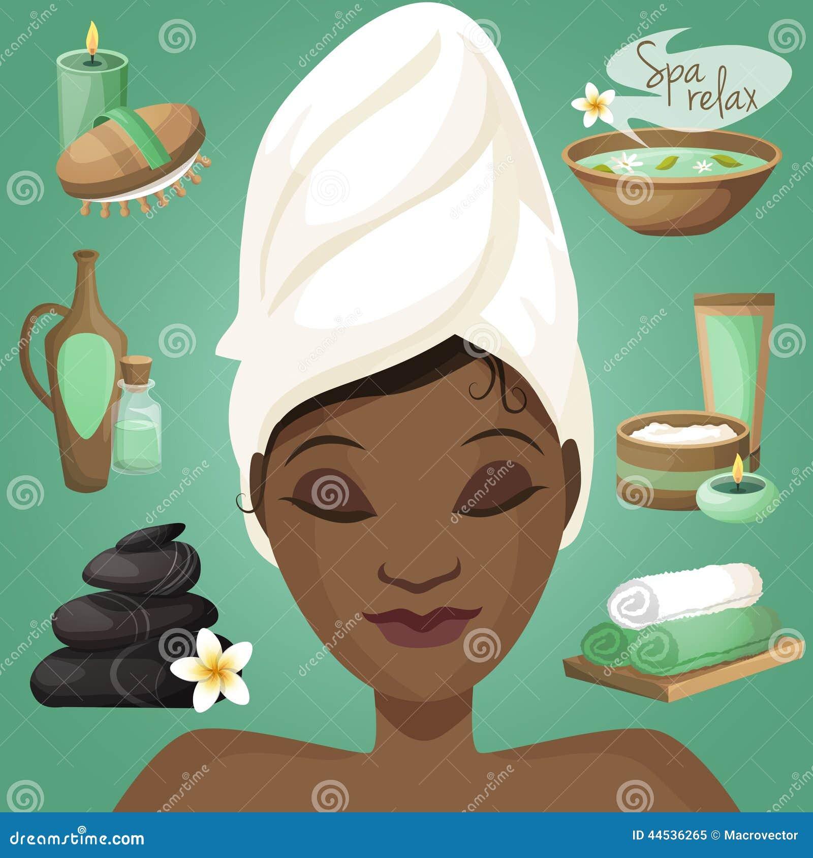 Mujer negra en balneario