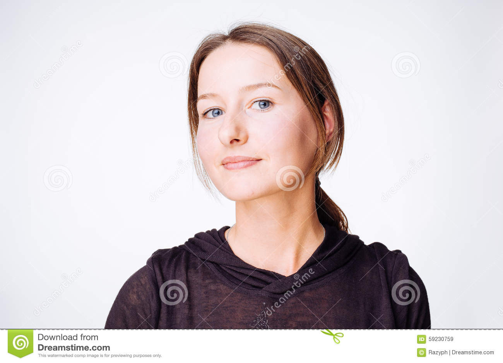 Download Mujer pacífica imagen de archivo. Imagen de negro, positividad - 59230759