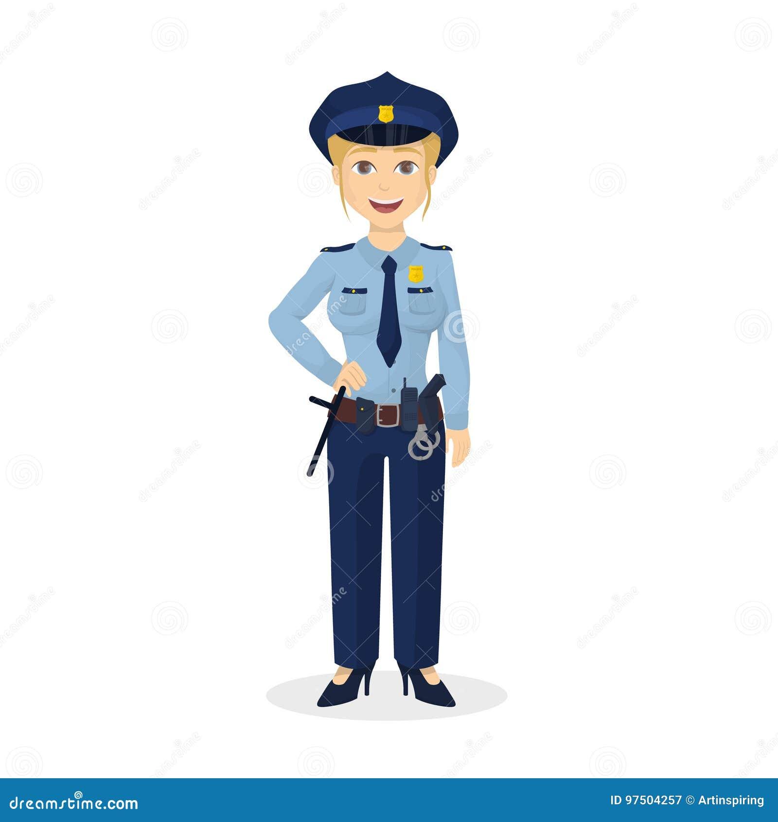 Mujer Policia Feliz Aislada Ilustracion Del Vector Ilustracion De Aislada Feliz 97504257 Felicidades, eres maravillosa, hay belleza en ser mujer. feliz aislada ilustracion del vector