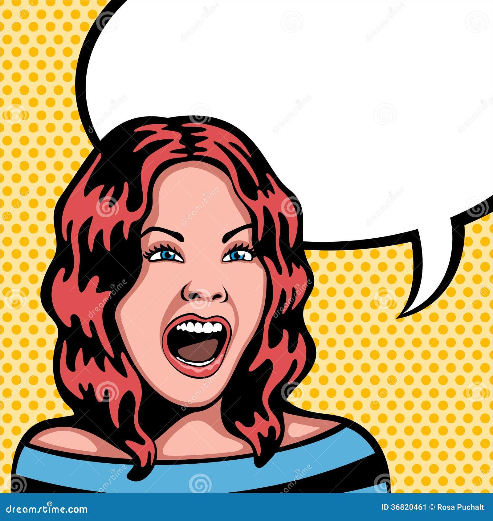 Mujer que grita
