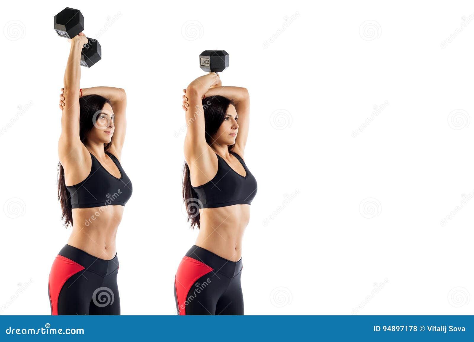 Ejercicios para biceps gym mujeres